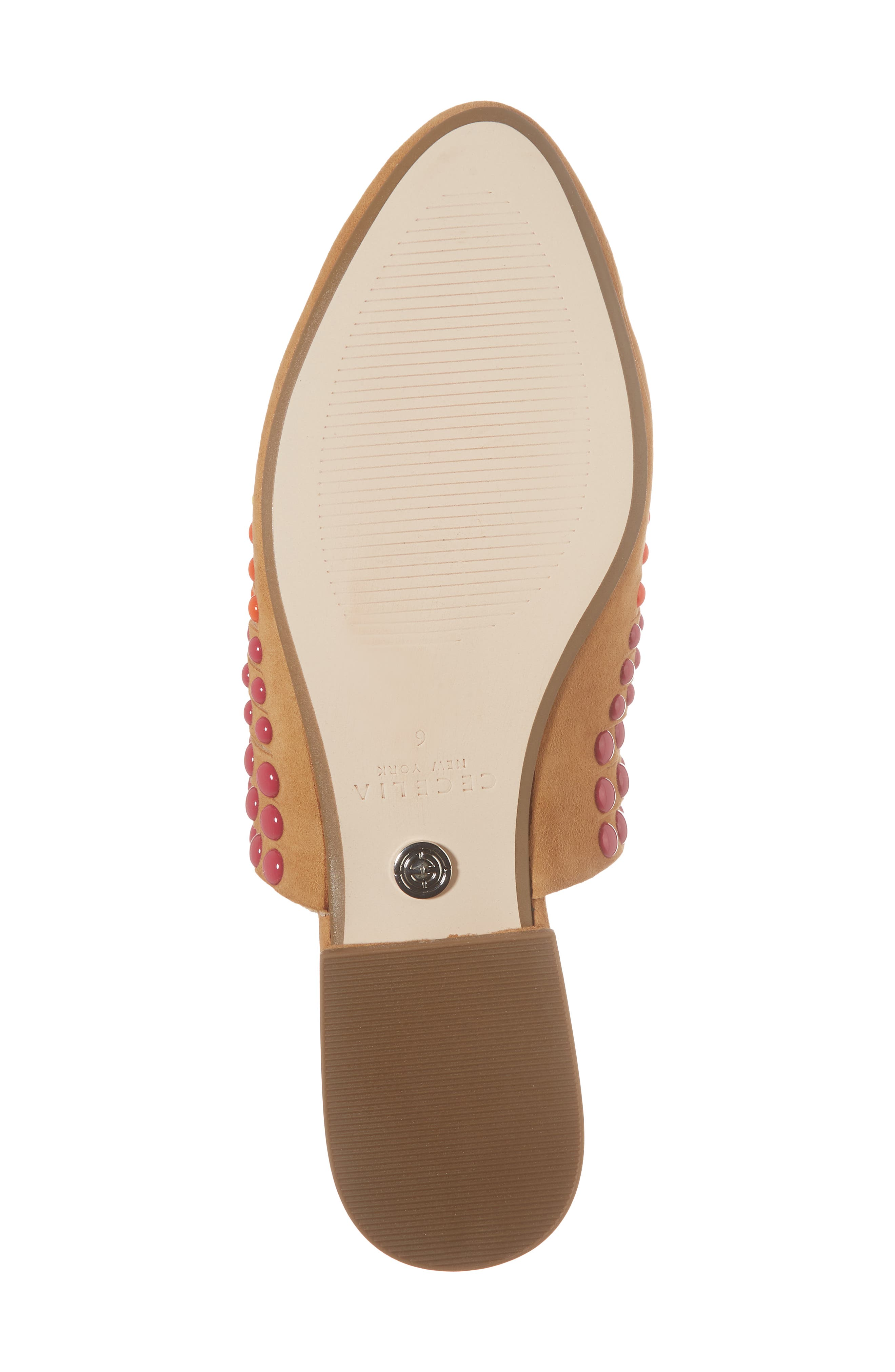 Potz Embellished Slide,                             Alternate thumbnail 6, color,                             Tan Print Suede
