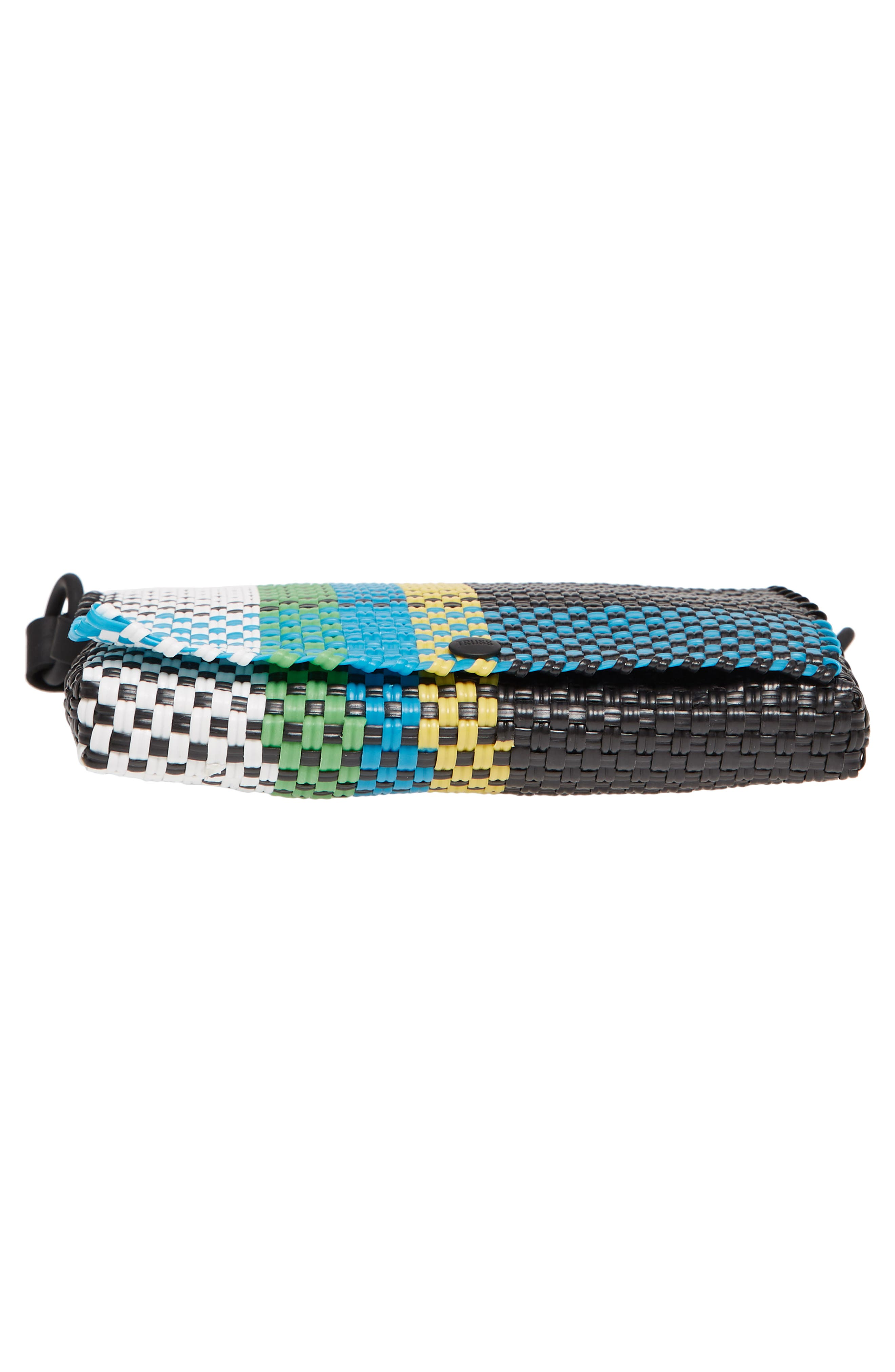 Embellished Baguette Clutch,                             Alternate thumbnail 5, color,                             Green/ Yellow