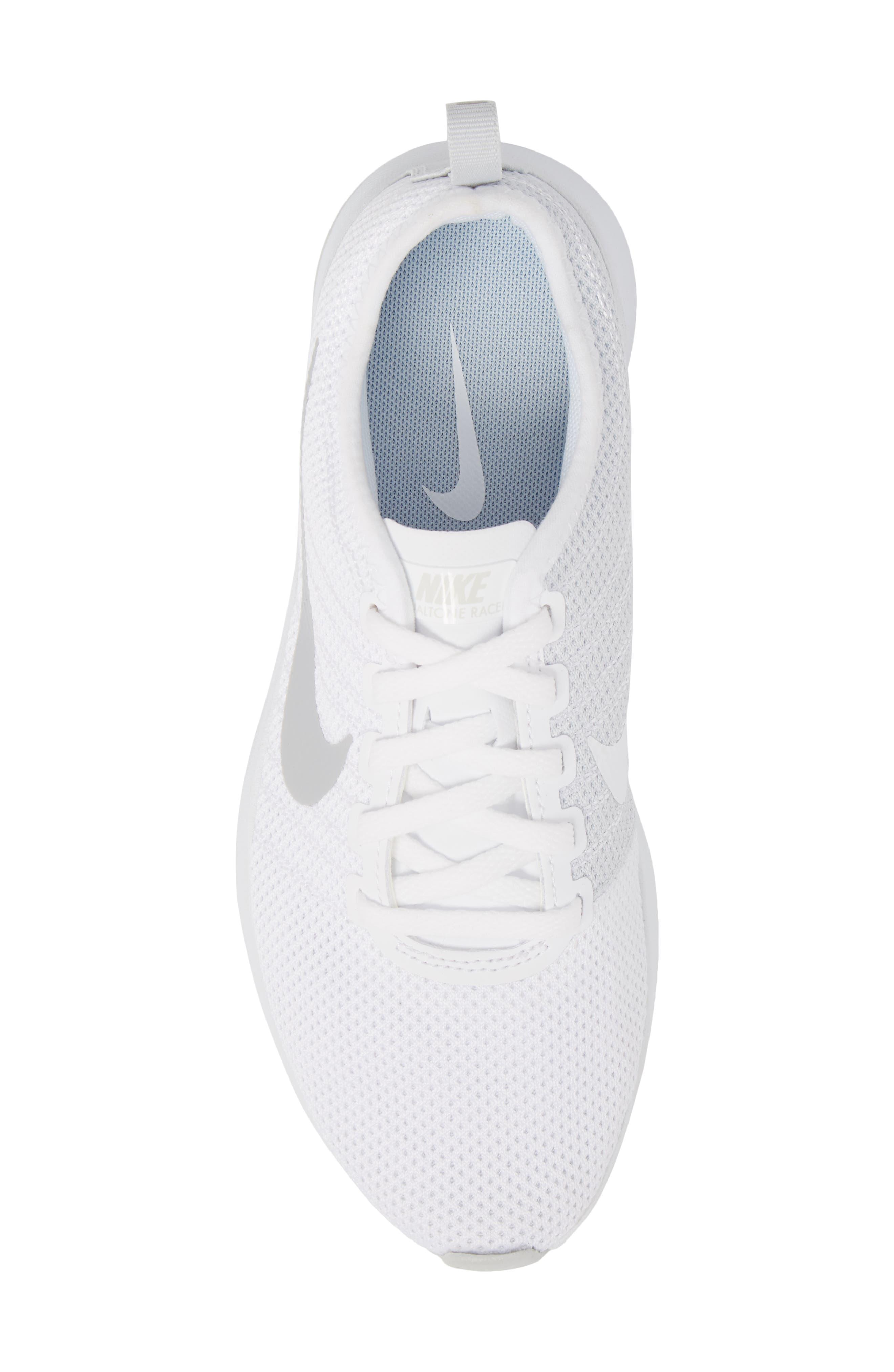 Dualtone Racer Running Shoe,                             Alternate thumbnail 5, color,                             White/ Pure Platinum