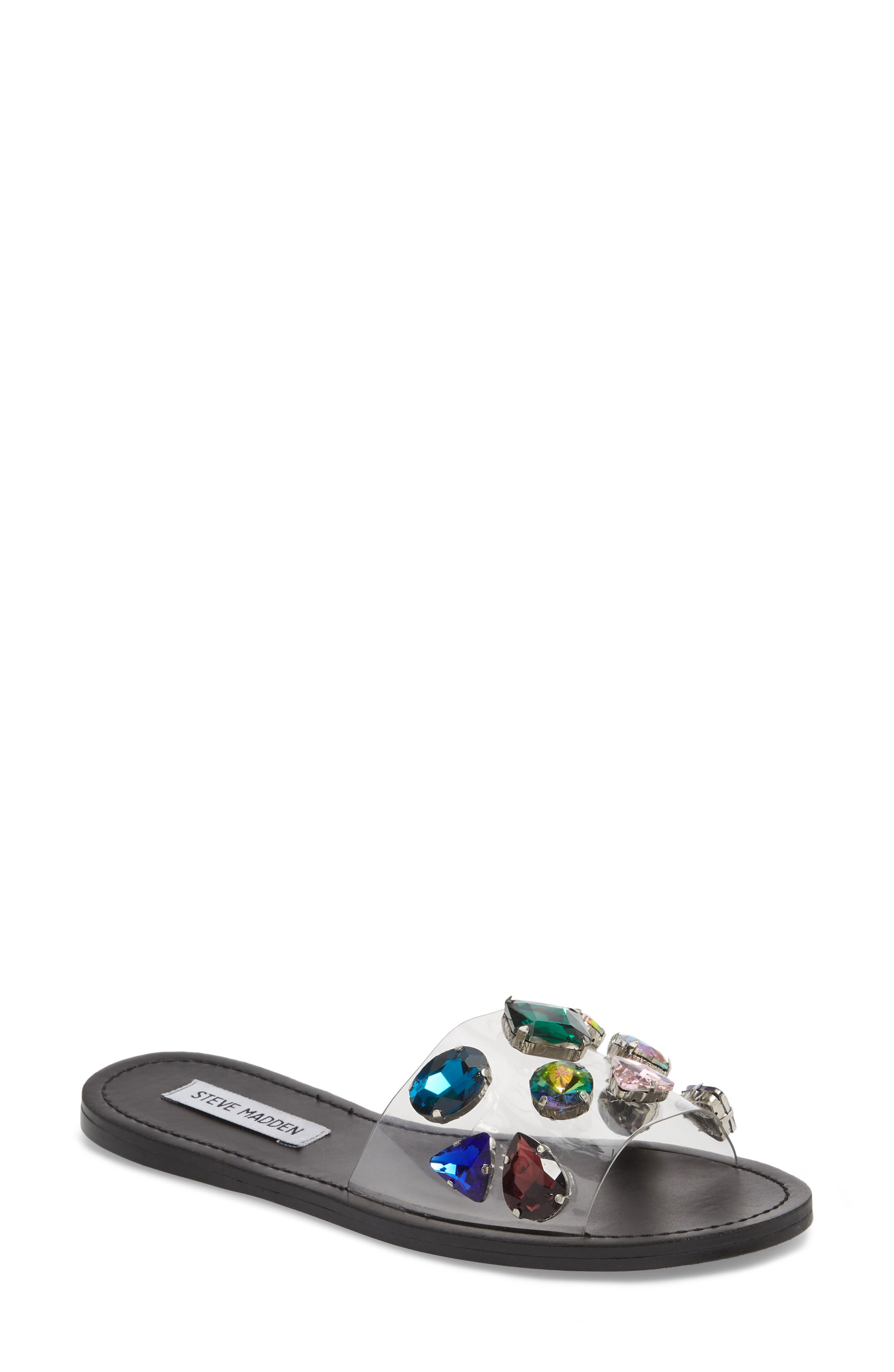 Steve Madden Rosalyn Embellished Slide Sandal (Women)