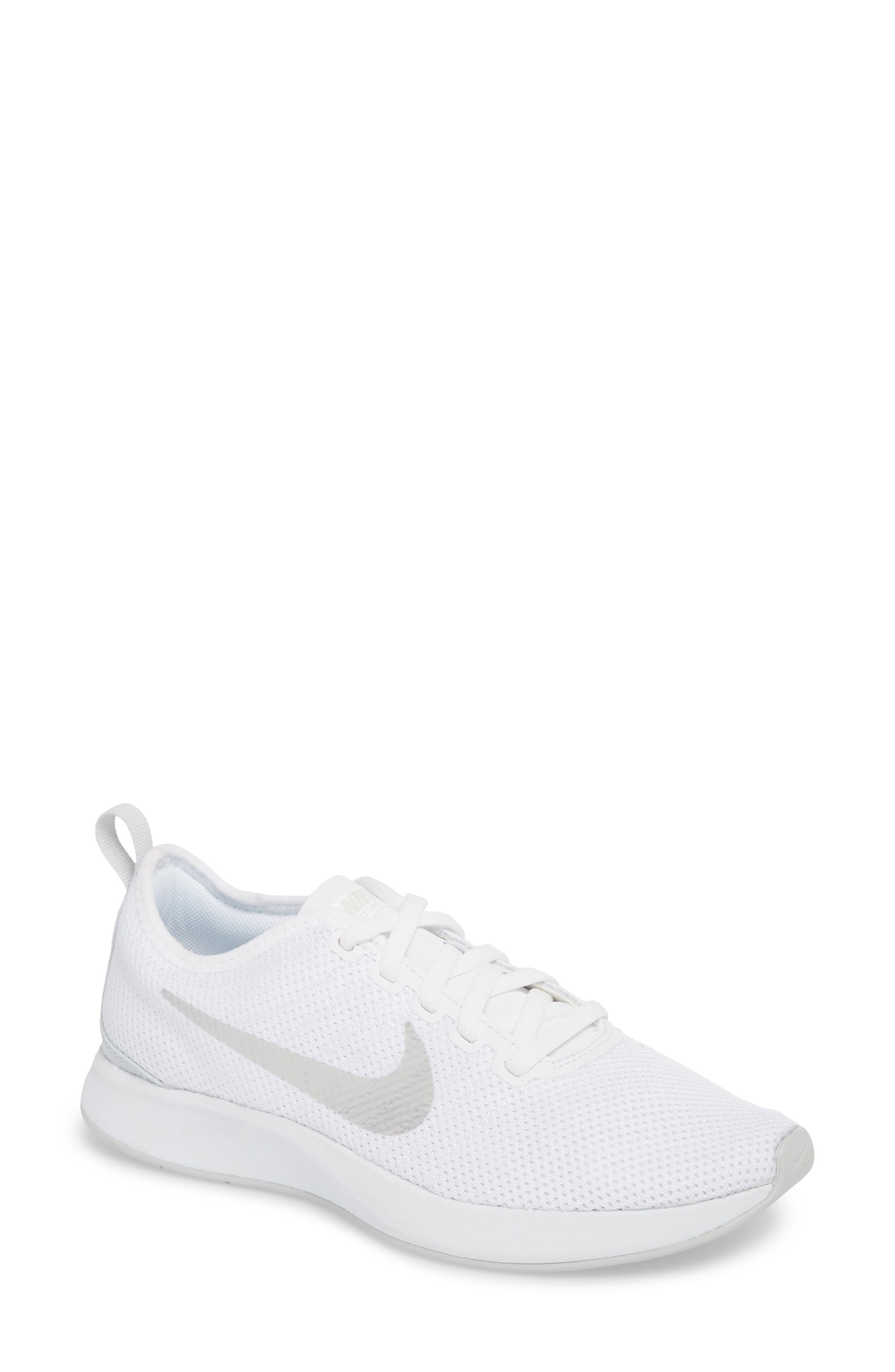 Dualtone Racer Running Shoe,                         Main,                         color, White/ Pure Platinum