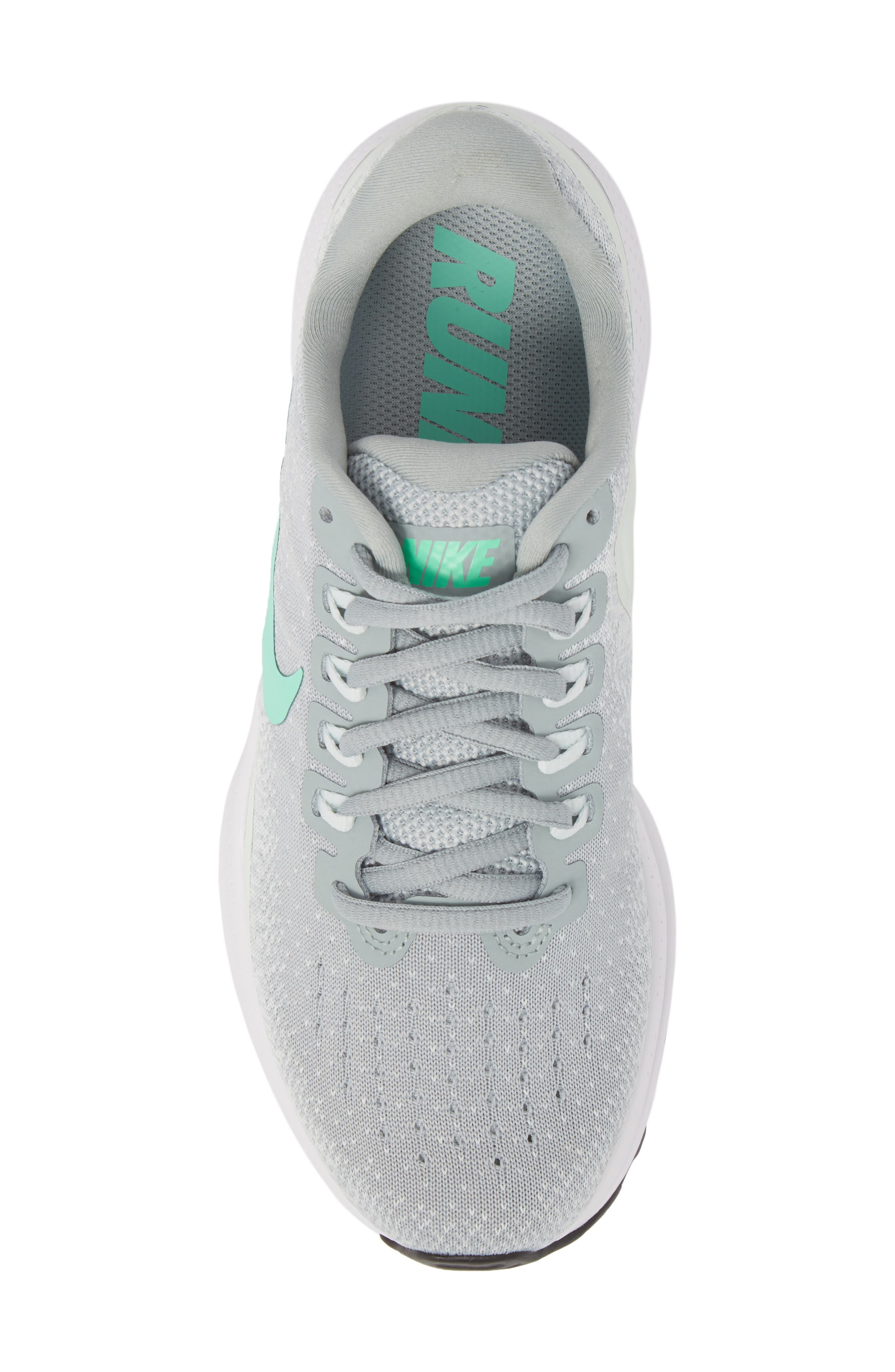 Air Zoom Vomero 13 Running Shoe,                             Alternate thumbnail 6, color,                             Light Pumice/ Green Glow
