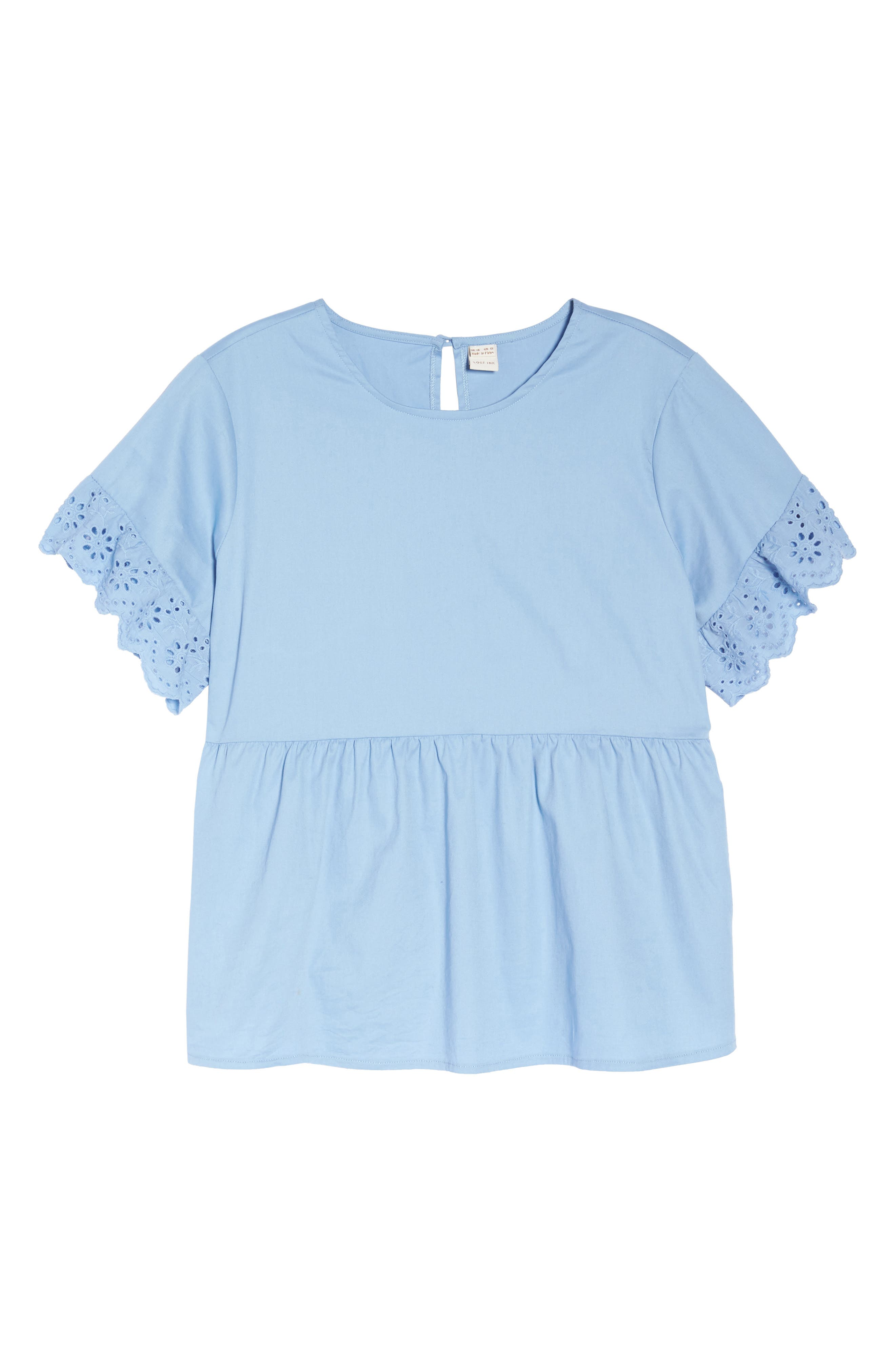 Daisy Trim Swing Top,                             Alternate thumbnail 7, color,                             Blue