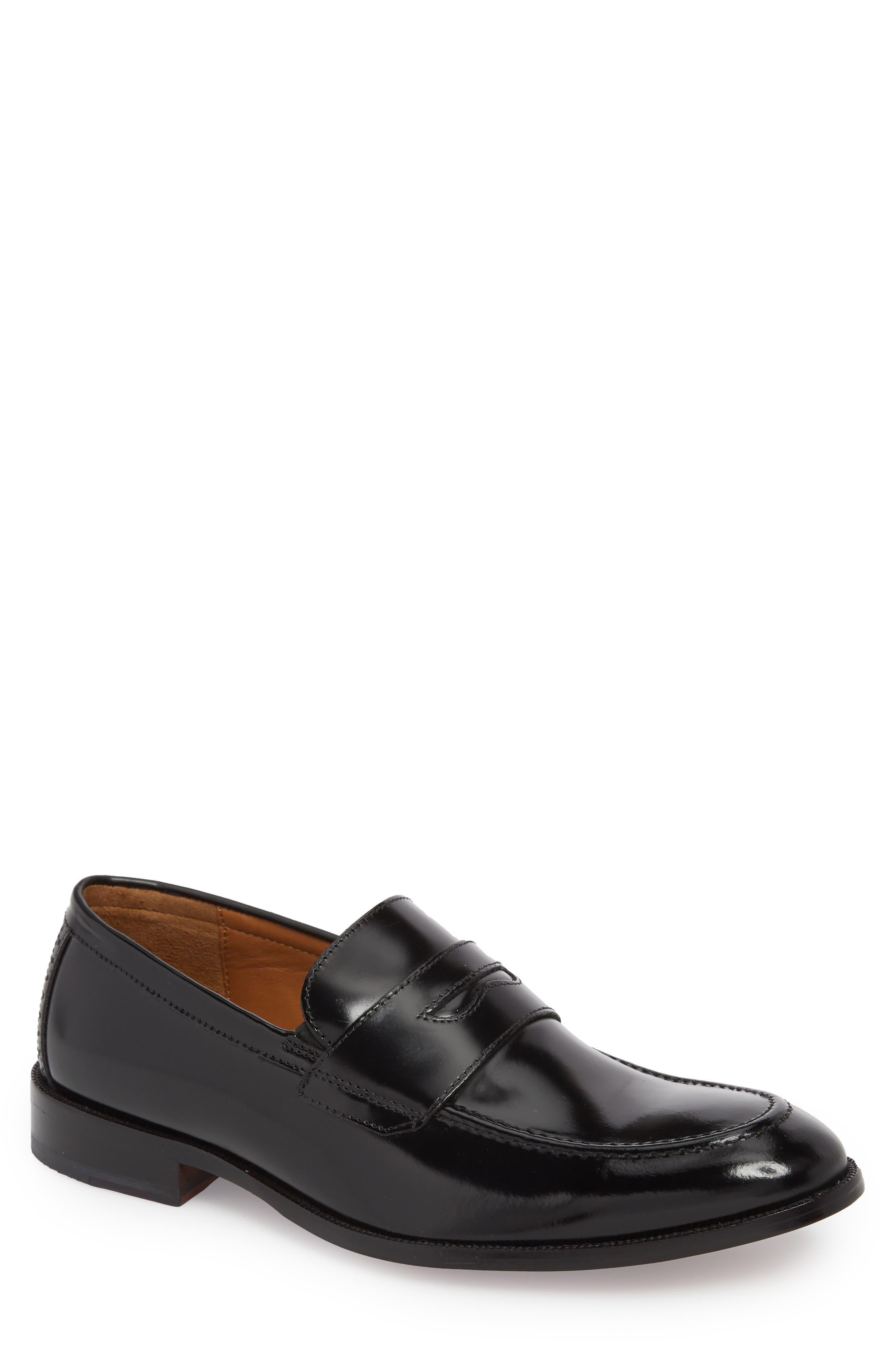 Bradford Penny Loafer,                         Main,                         color, Black Leather