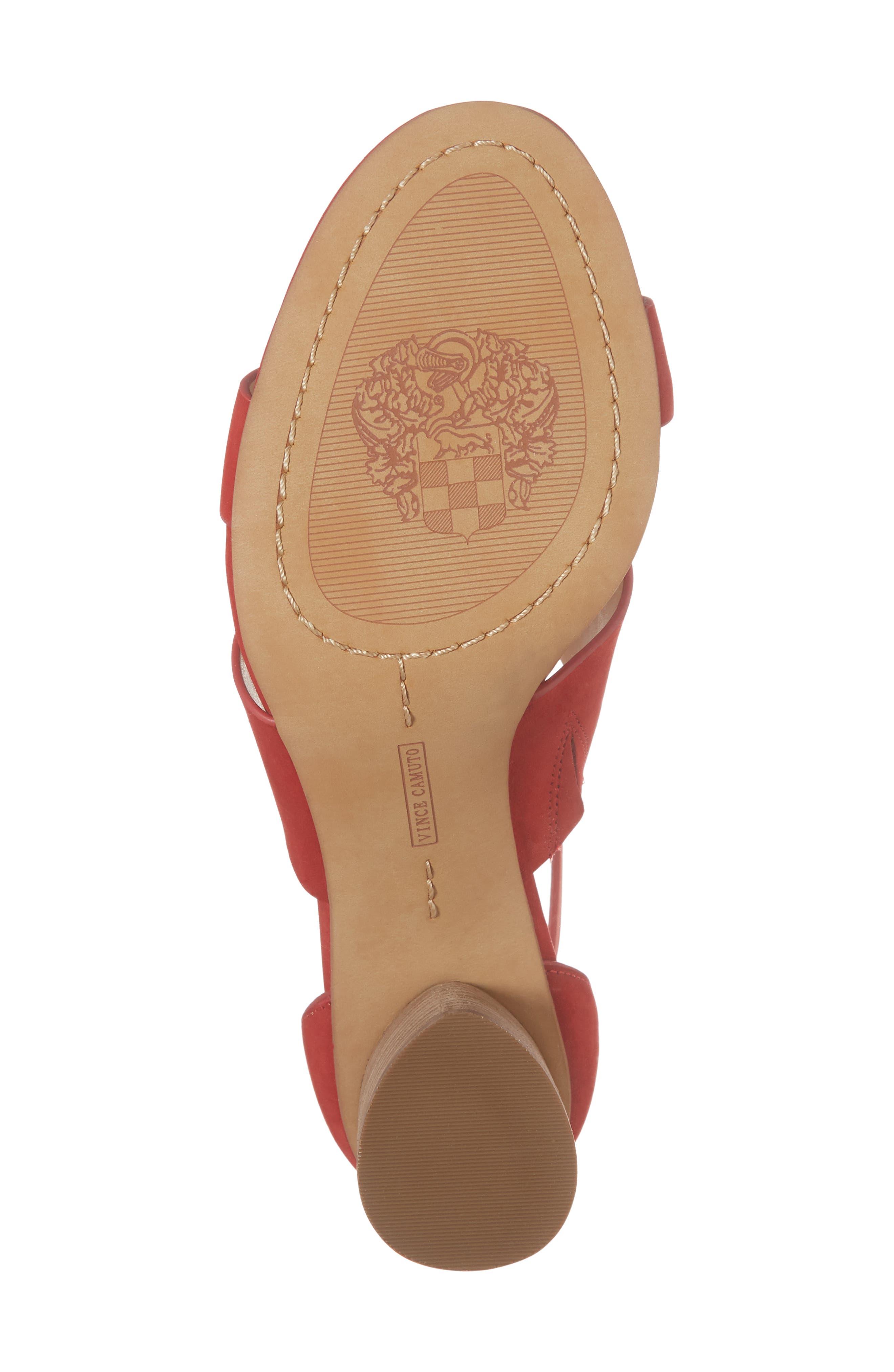 Junette Sandal,                             Alternate thumbnail 6, color,                             Cherry Red Leather