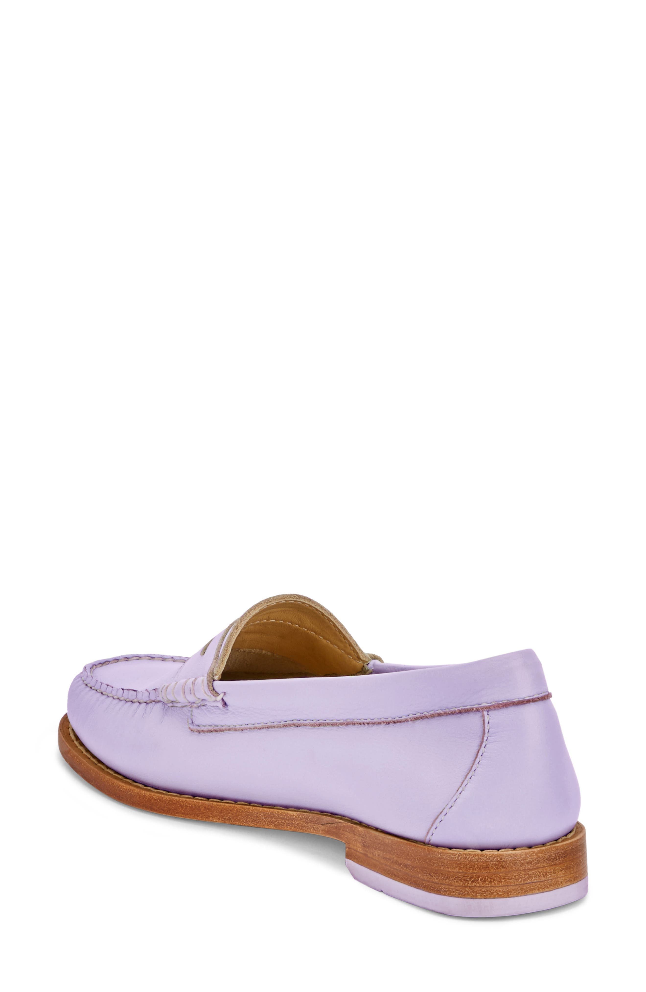 'Whitney' Loafer,                             Alternate thumbnail 2, color,                             Lilac Leather