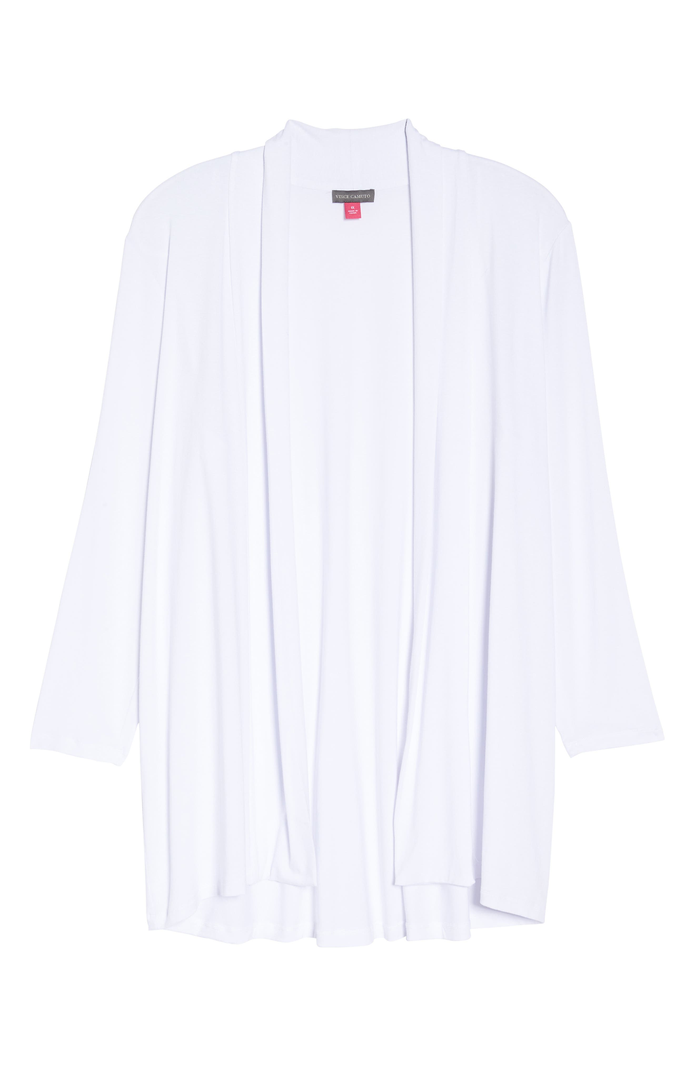 Open Front Cardigan,                             Main thumbnail 1, color,                             Ultra White