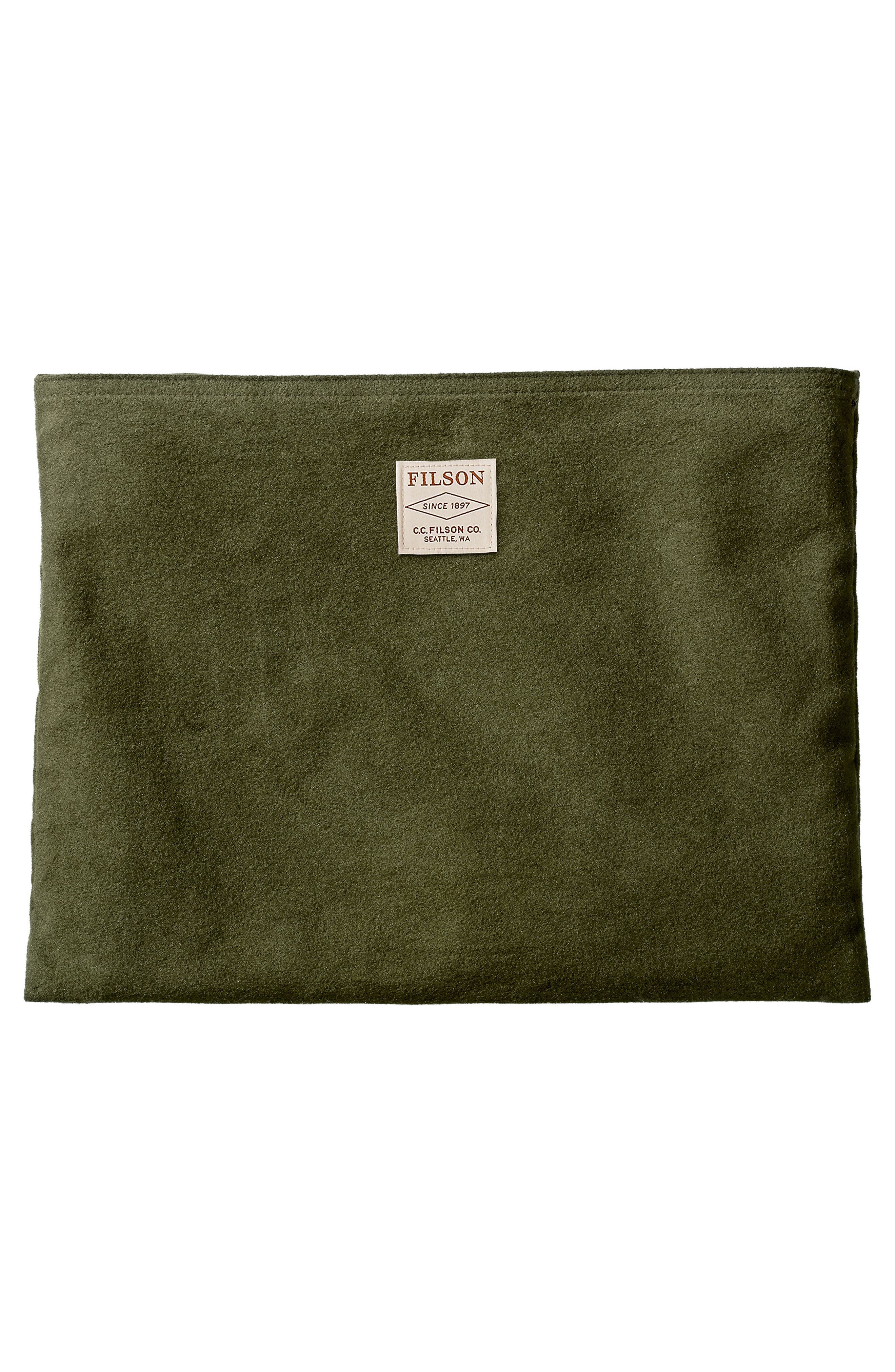 Large Leather Pouch,                             Alternate thumbnail 2, color,                             Moss