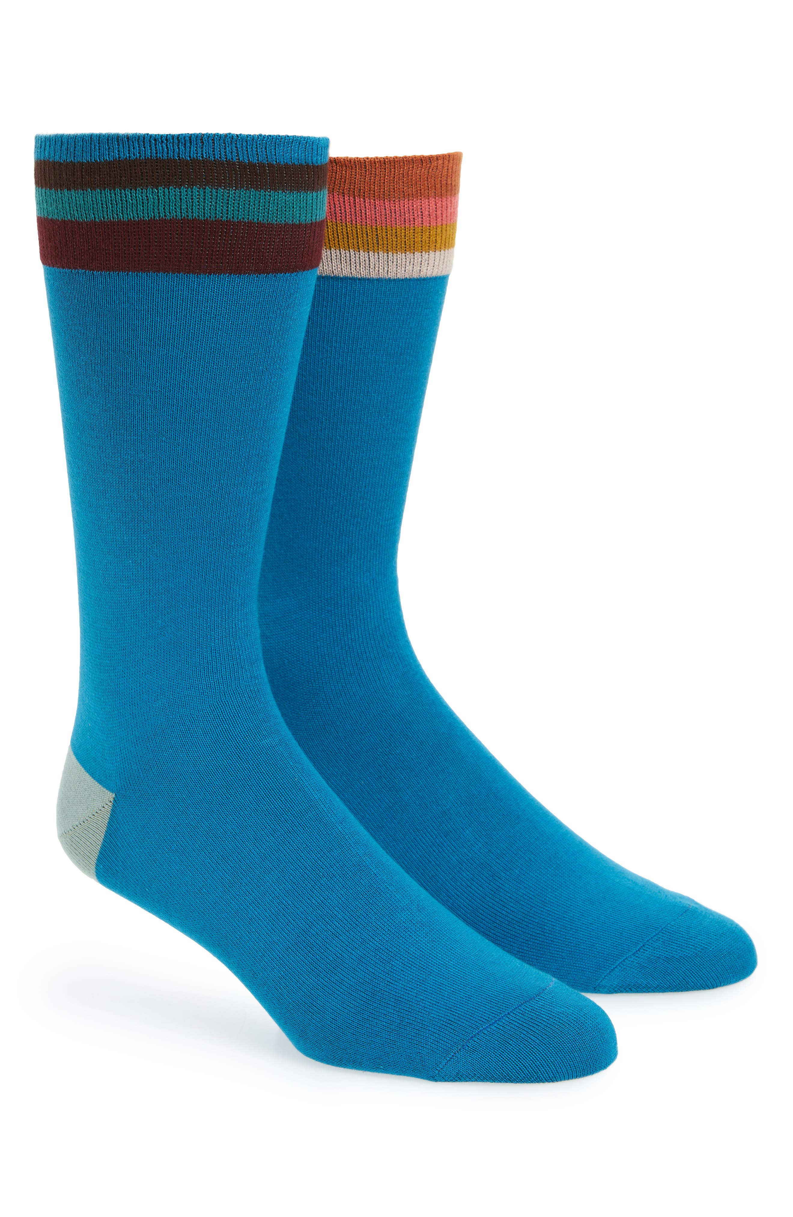 Artist Stripe Socks,                             Main thumbnail 1, color,                             Blue