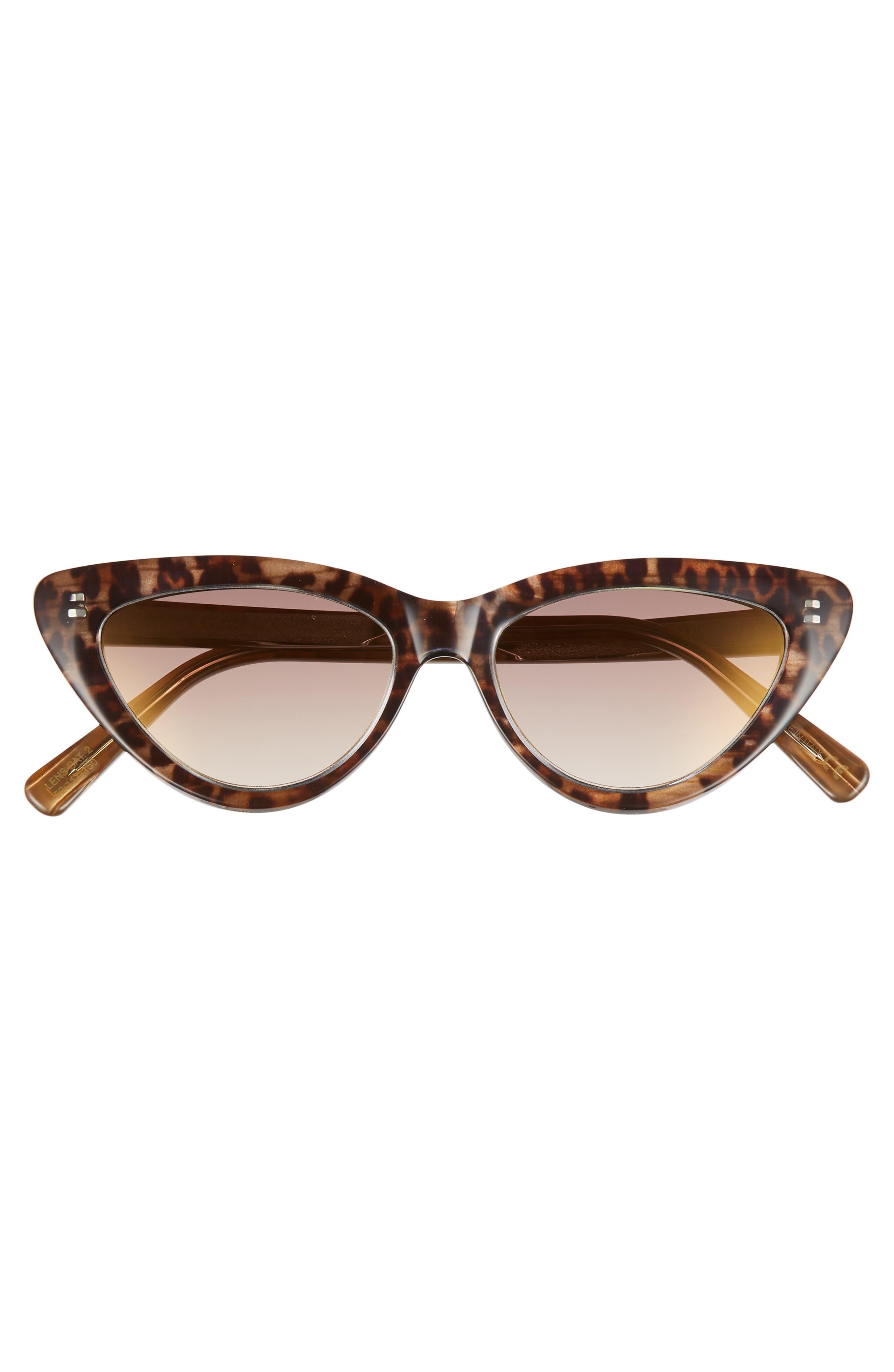 D'BLANC A-Muse 52mm Sunglasses,                             Alternate thumbnail 3, color,                             Cheetah