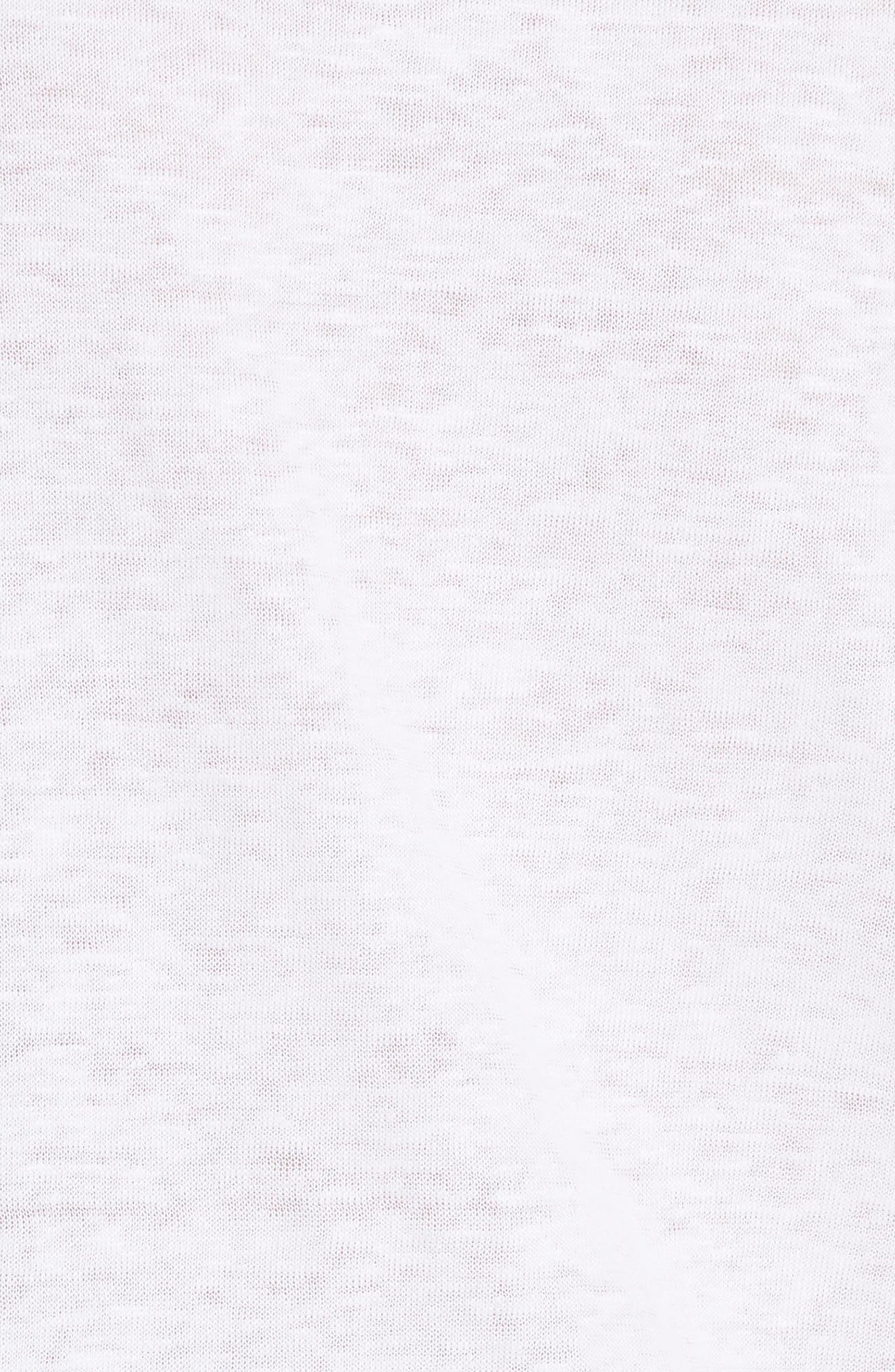 Linen Short Sleeve Top,                             Alternate thumbnail 5, color,                             Optic White