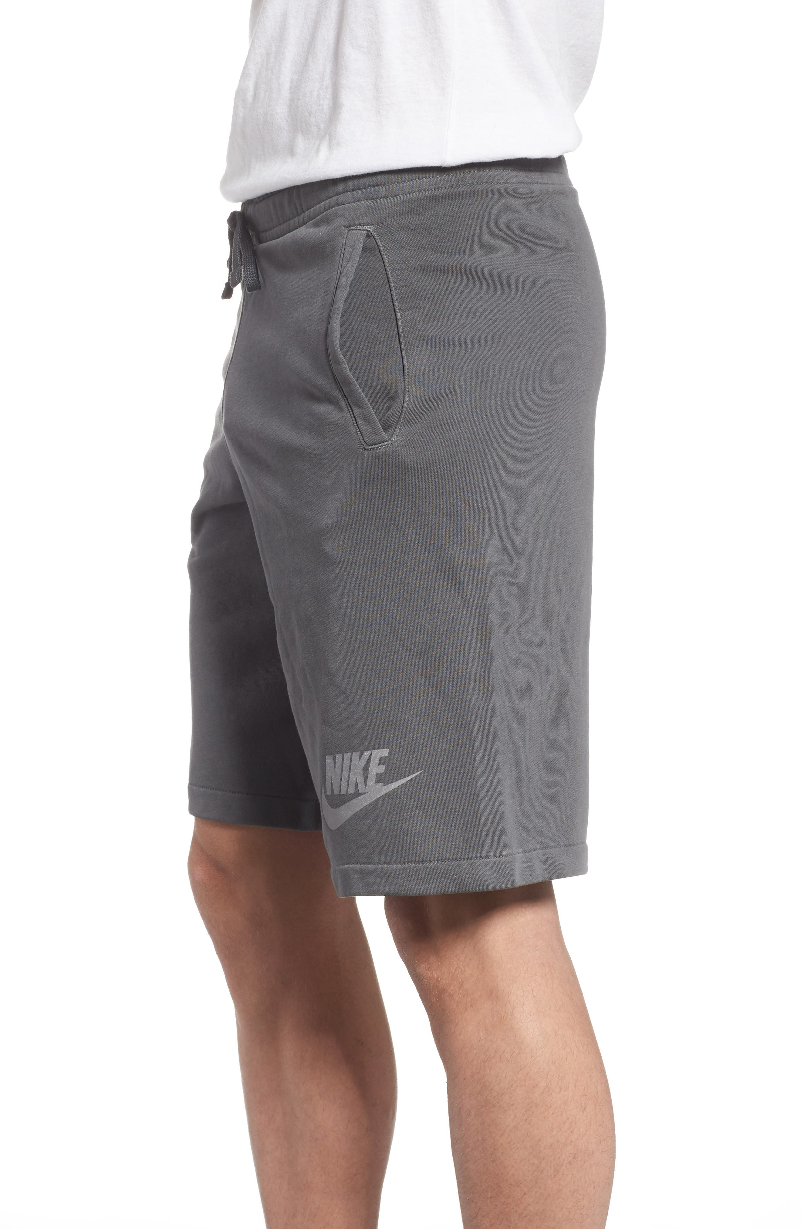 NSW Cotton Blend Shorts,                             Alternate thumbnail 3, color,                             Black/ Anthracite/ Cool Grey