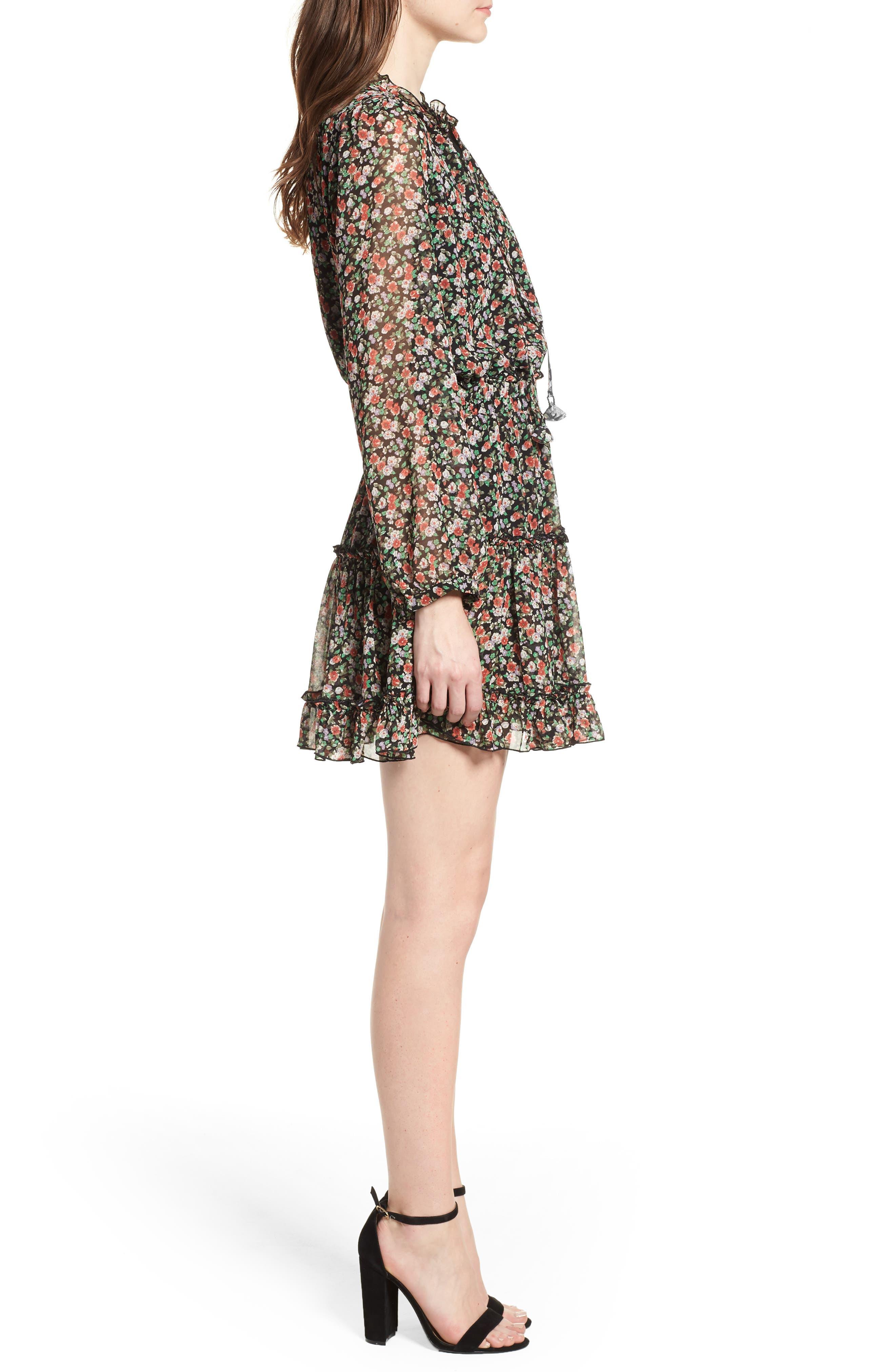 Rosemary Dress,                             Alternate thumbnail 3, color,                             Black Multi