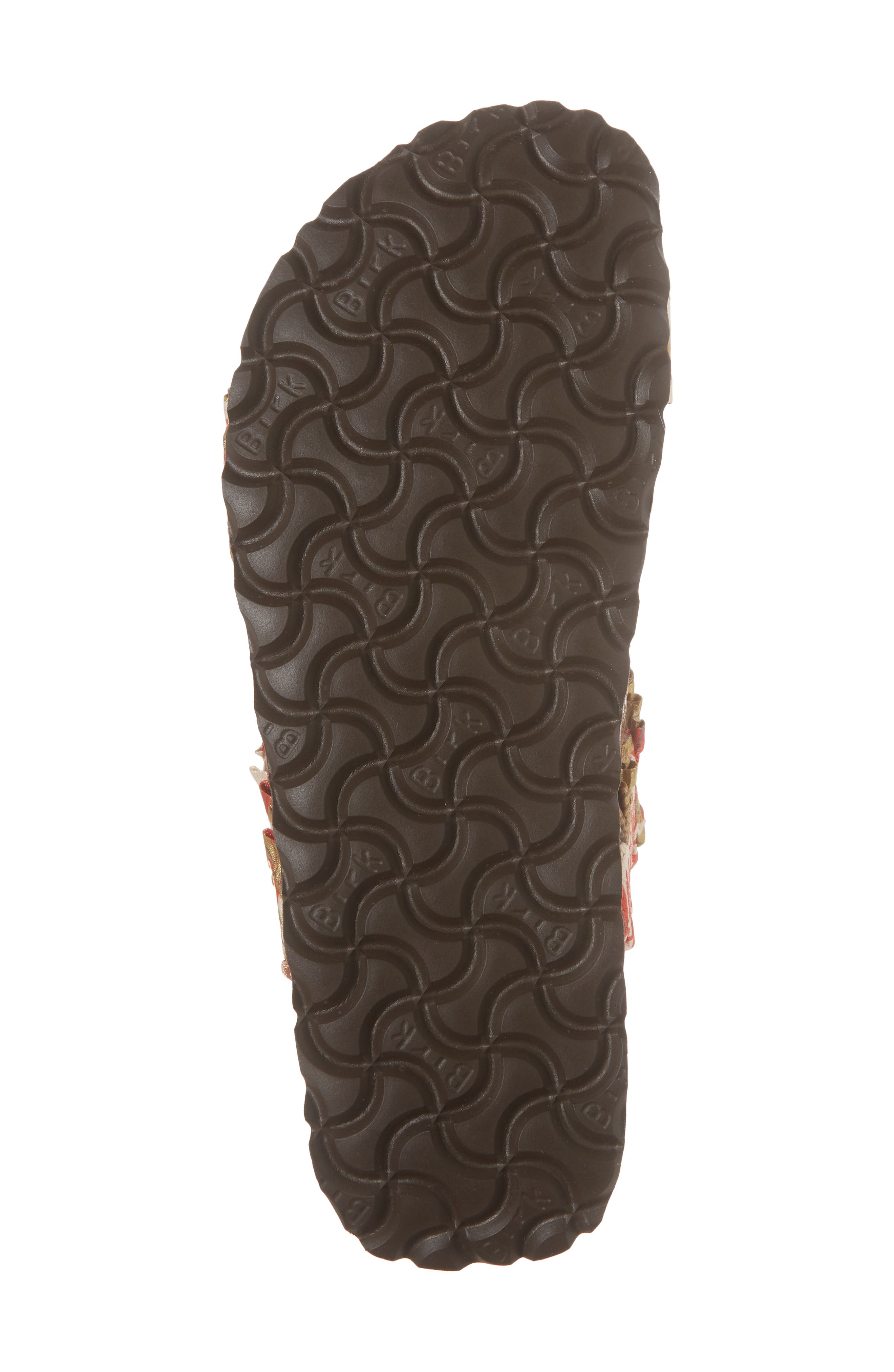 Papillio by Birkenstock Curacao Slide Sandal,                             Alternate thumbnail 6, color,                             Flower Frill Brown Fabric