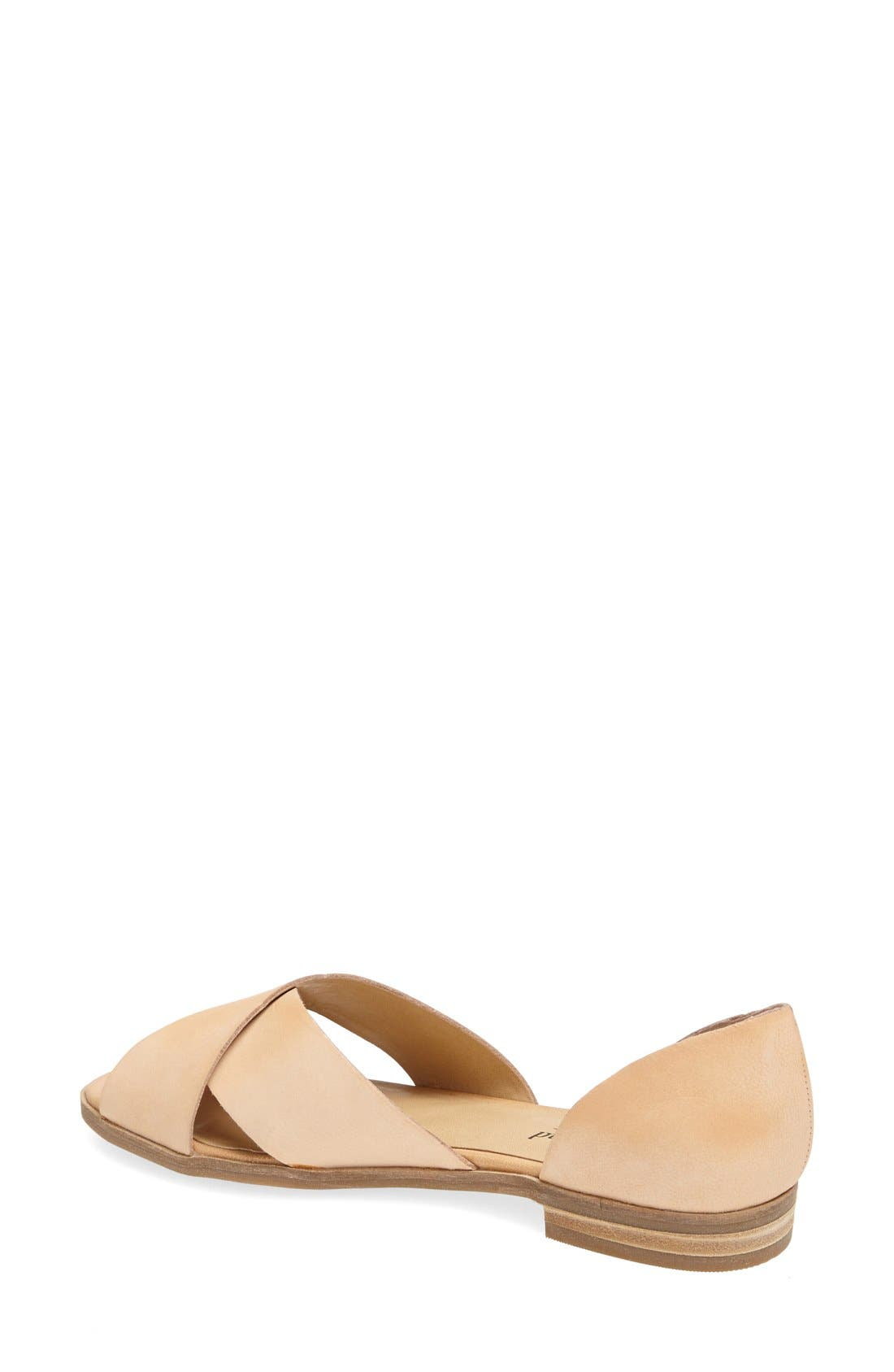 Alternate Image 2  - Lucky Brand 'Silla' Leather Cross Strap Sandal (Women)