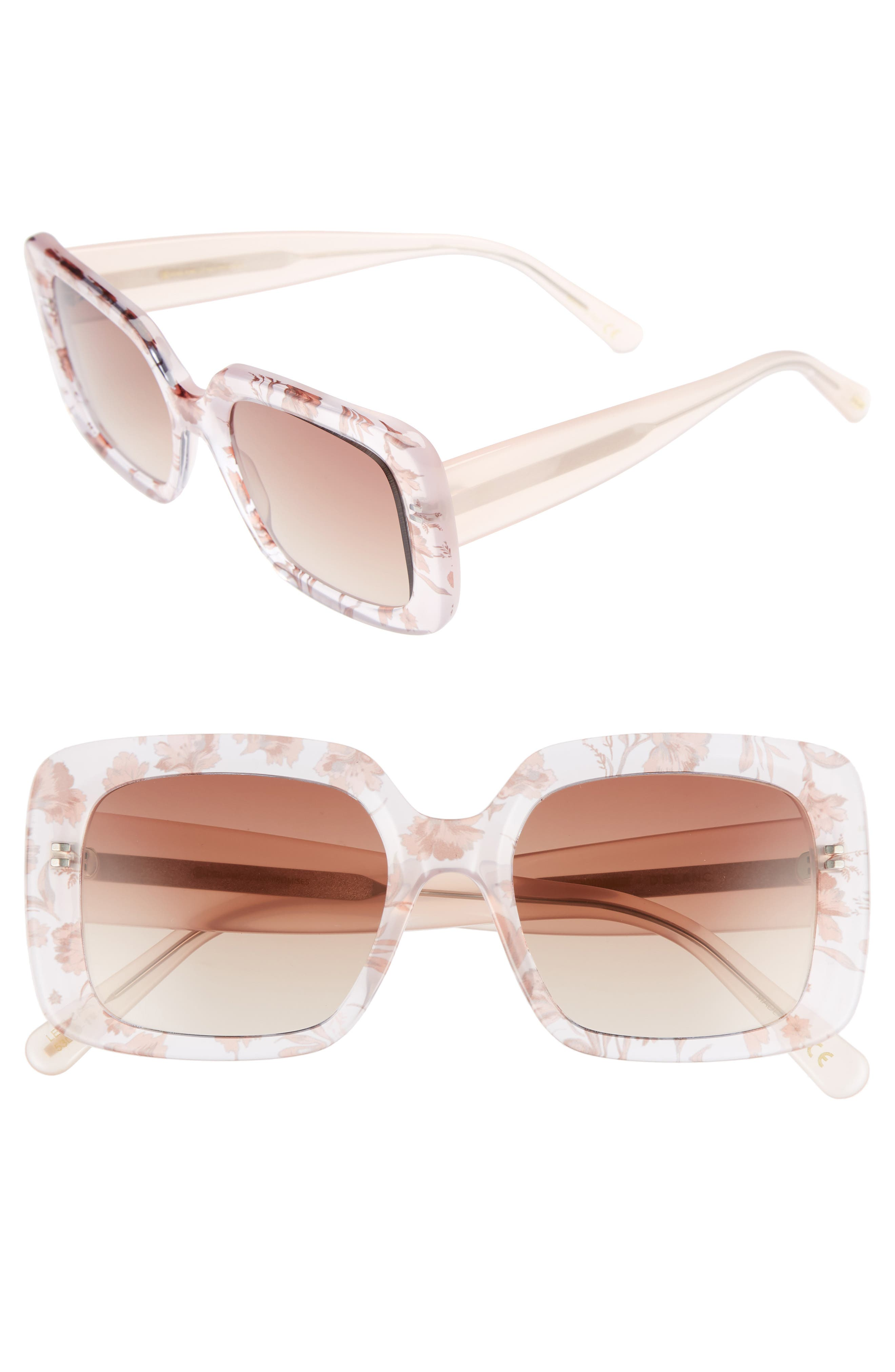 D'BLANC No Promises 53mm Sunglasses,                         Main,                         color, Something Nice