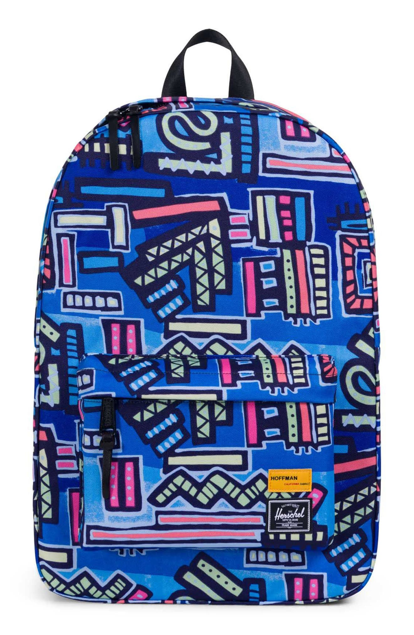 Winlaw - Hoffman Backpack,                         Main,                         color, Abstract Geo Blue