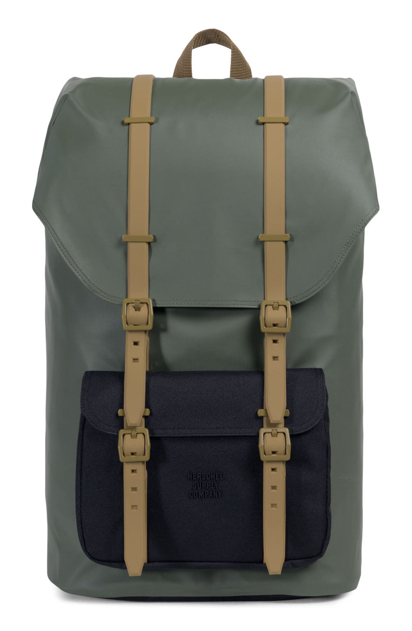 Little America Studio Collection Backpack,                             Main thumbnail 1, color,                             Beetle/ Black/ Gothic Olive