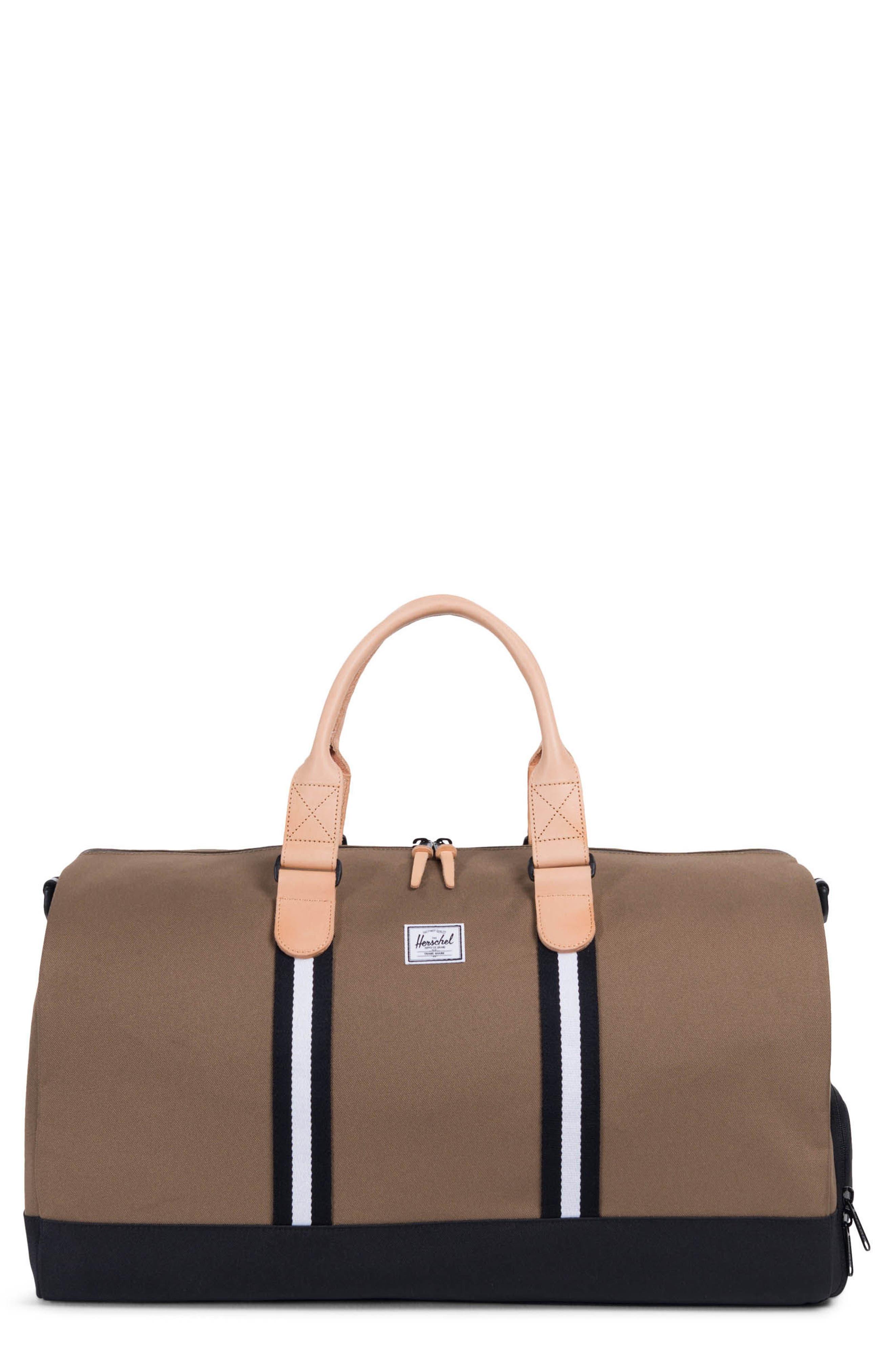 Novel Duffel Bag,                         Main,                         color, Cub/ Black/ White
