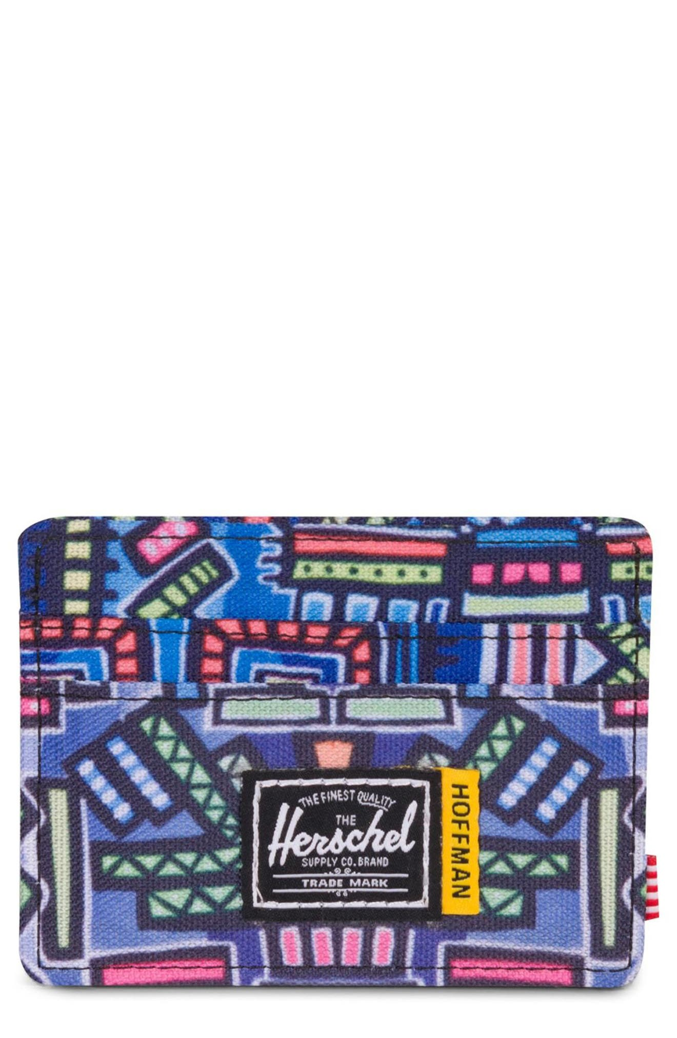 Hoffman Charlie Card Case,                         Main,                         color, Abstract Geo