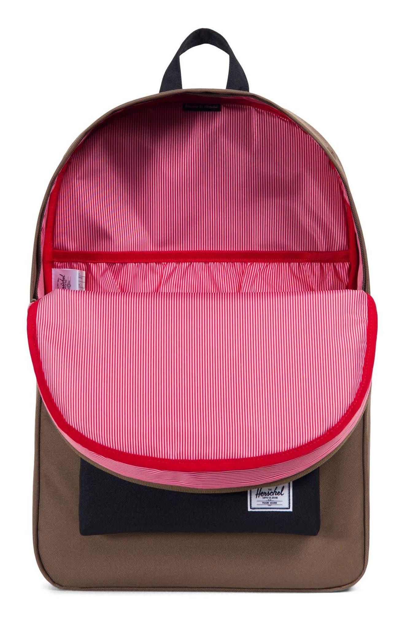 Heritage Offset Stripe Backpack,                             Alternate thumbnail 3, color,                             Cub/ Black/ White