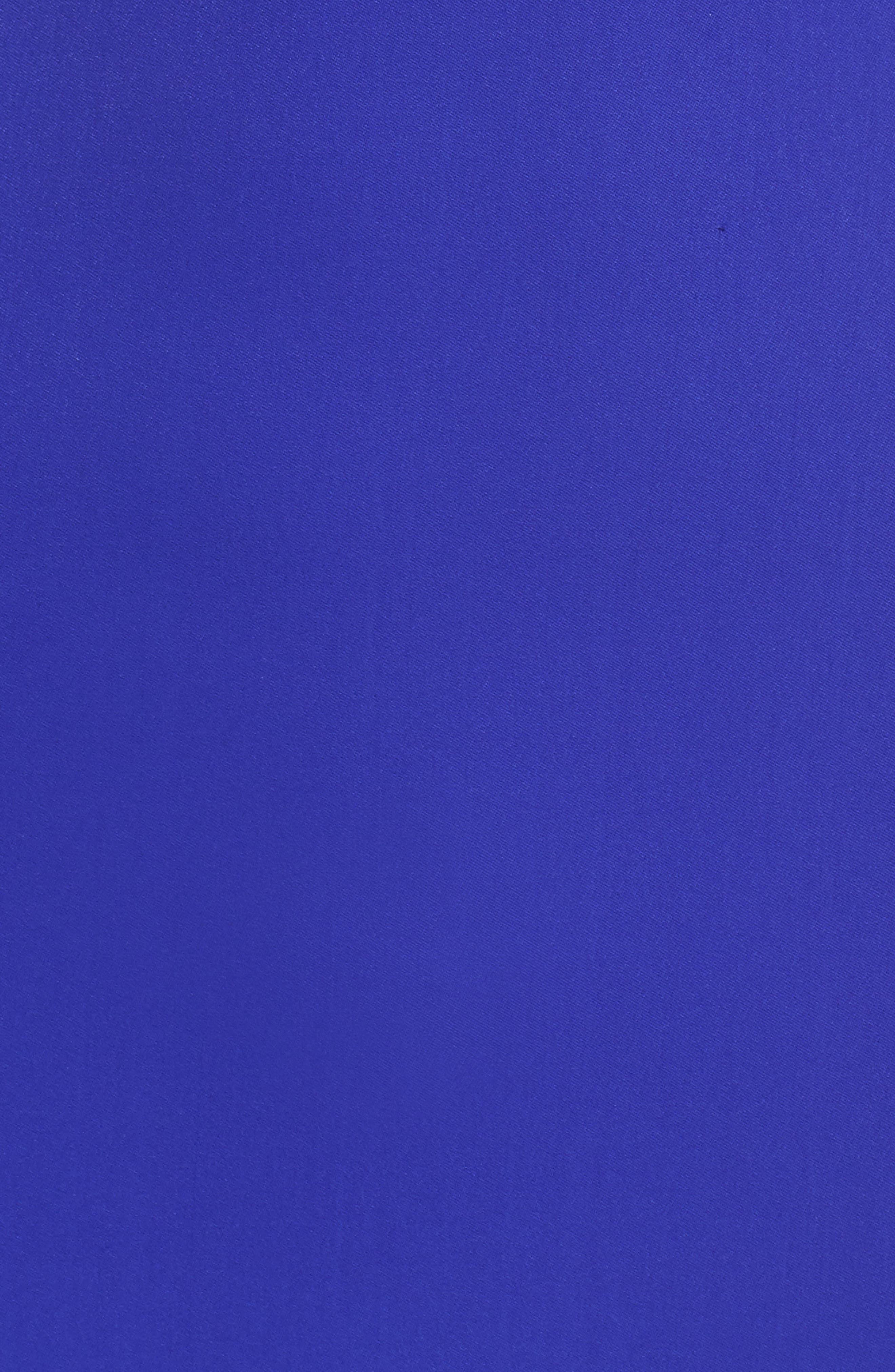 Off-the-Shoulder Lace & Crepe Gown,                             Alternate thumbnail 5, color,                             Royal Iris