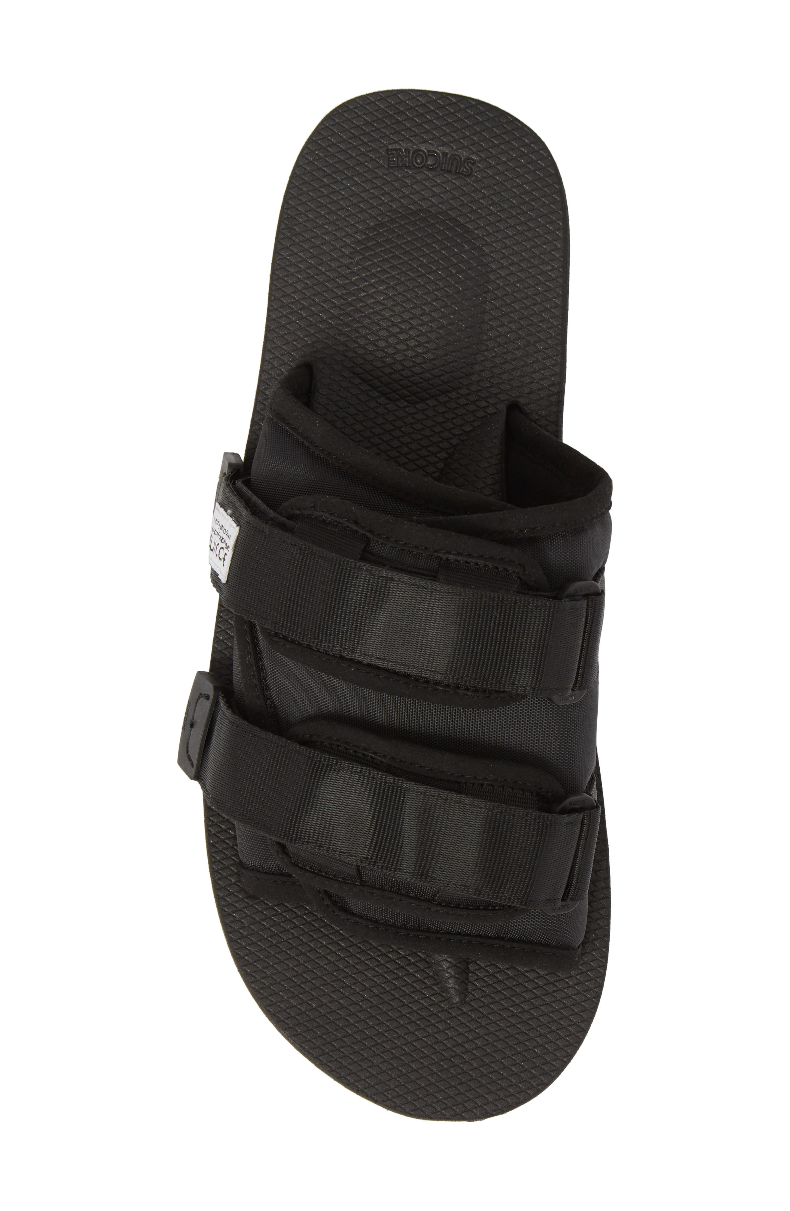 Moto Cab Slide Sandal,                             Alternate thumbnail 5, color,                             Black