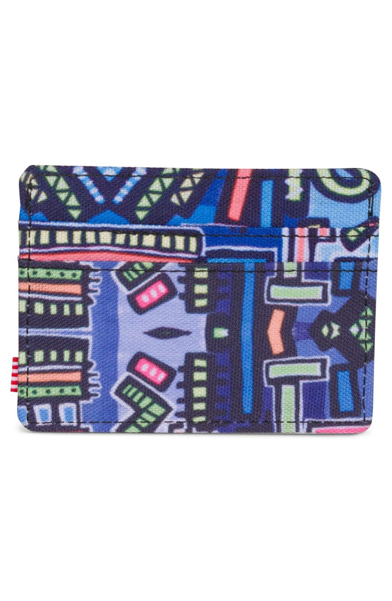 Hoffman Charlie Card Case,                             Alternate thumbnail 3, color,                             Abstract Geo
