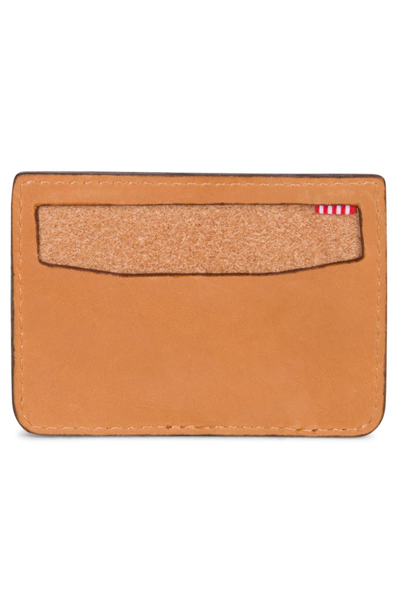 Ace Leather Card Case,                             Alternate thumbnail 3, color,                             Tan