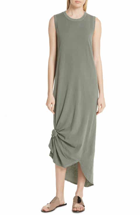 THE GREAT Knotted Muscle Tank Dress