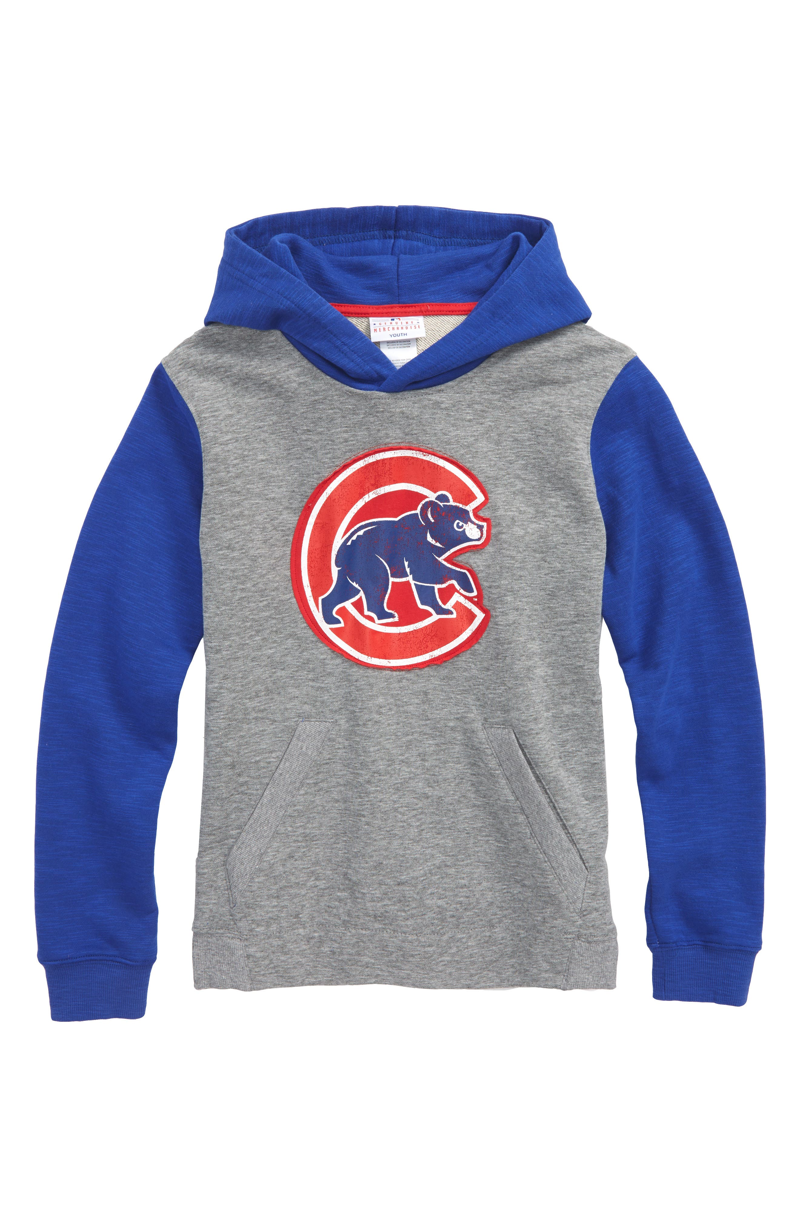 New Beginnings - Chicago Cubs Pullover Hoodie,                             Main thumbnail 1, color,                             Gray