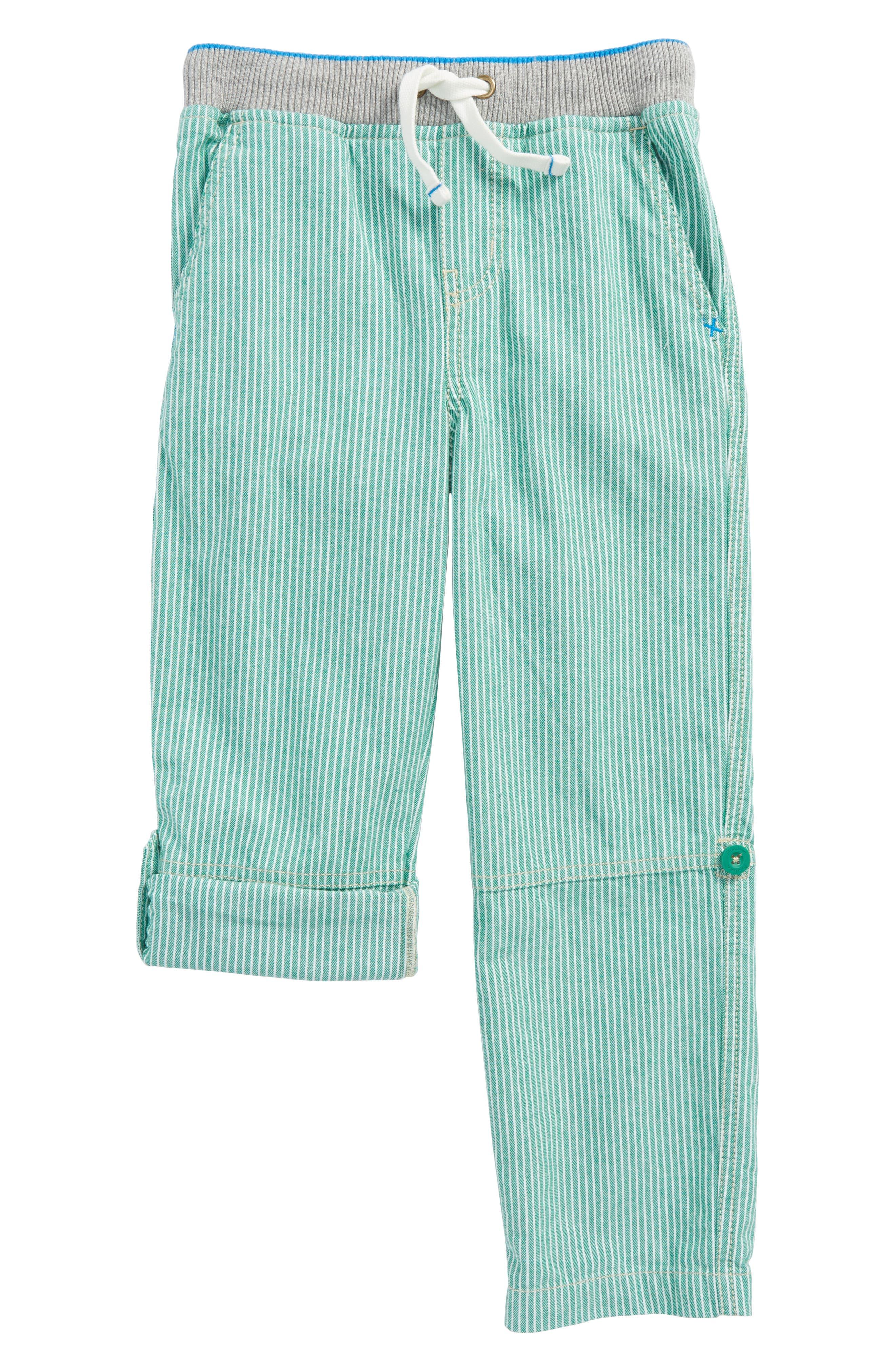 Surf Roll-Up Pants,                         Main,                         color, Moringa Green/ Ecru