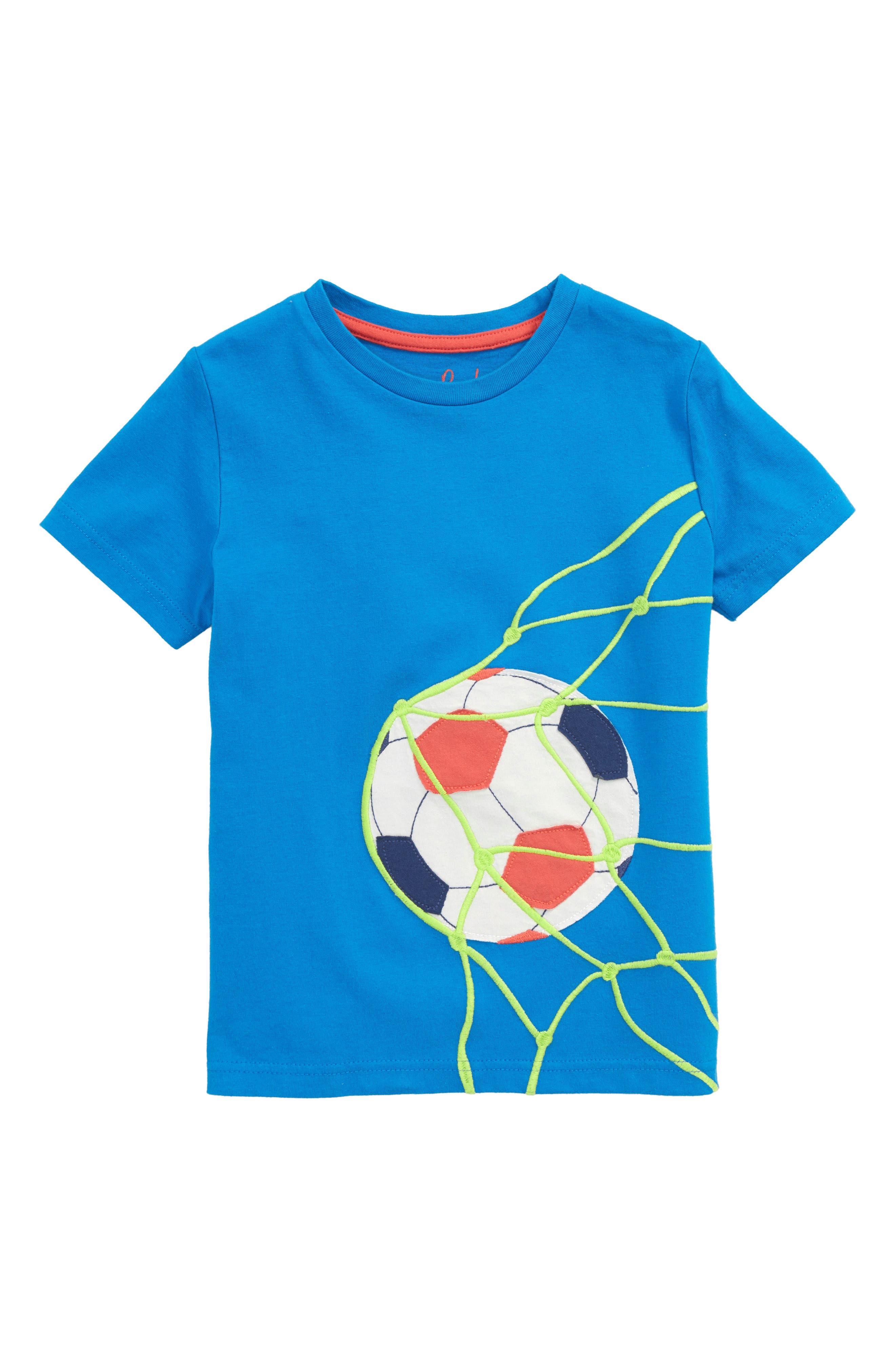 Sports Appliqué T-Shirt,                         Main,                         color, Yogo Blue Football