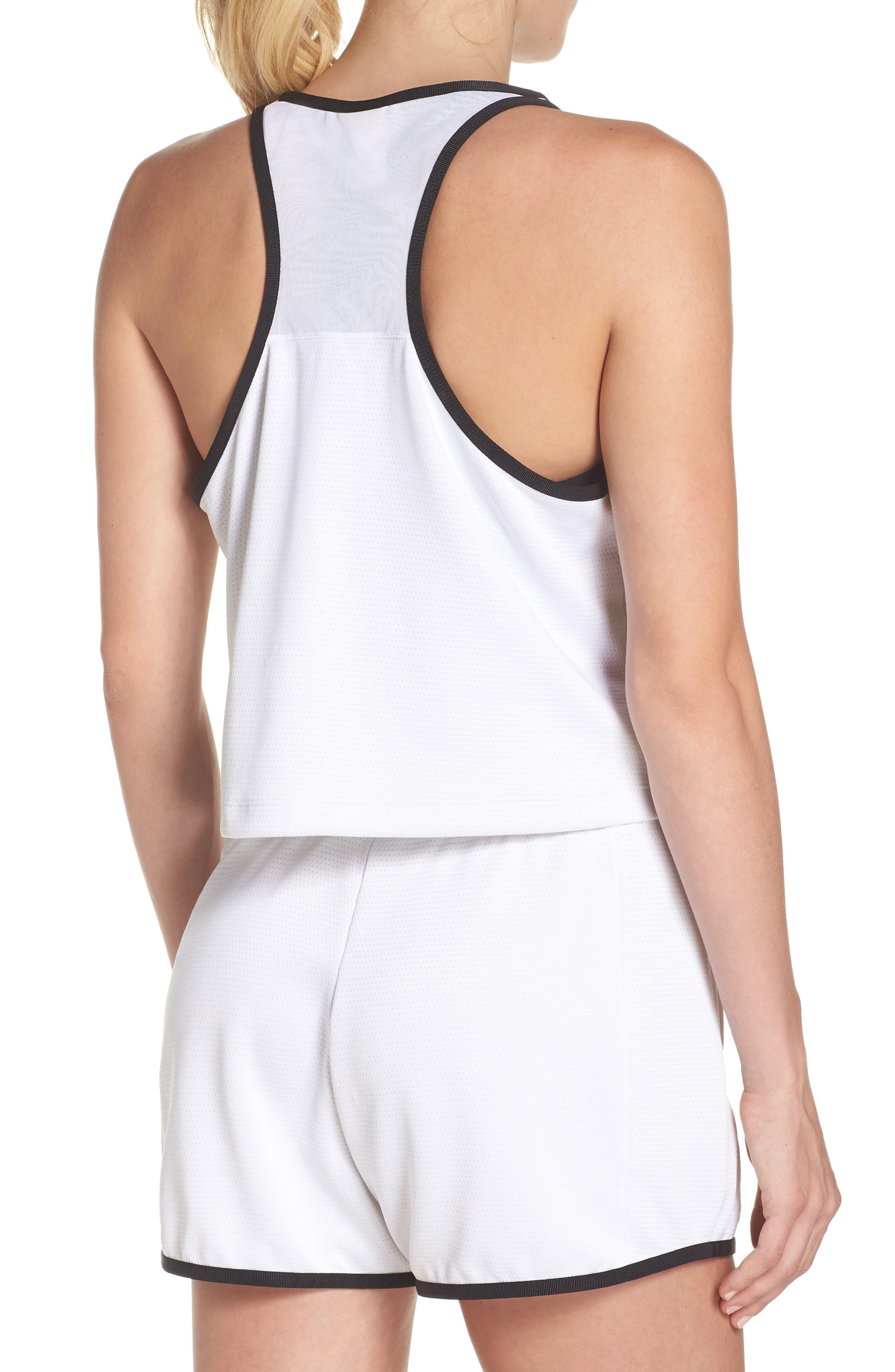 Sportswear Teched Out Tank,                             Alternate thumbnail 2, color,                             White/ Black