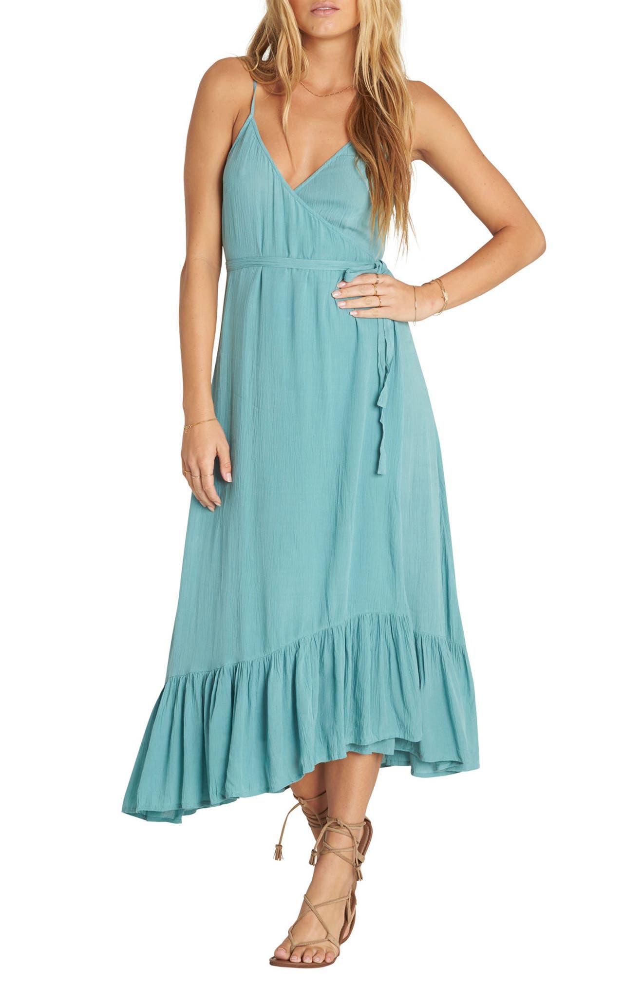 Billabong Hold Me Tight Wrap Midi Dress