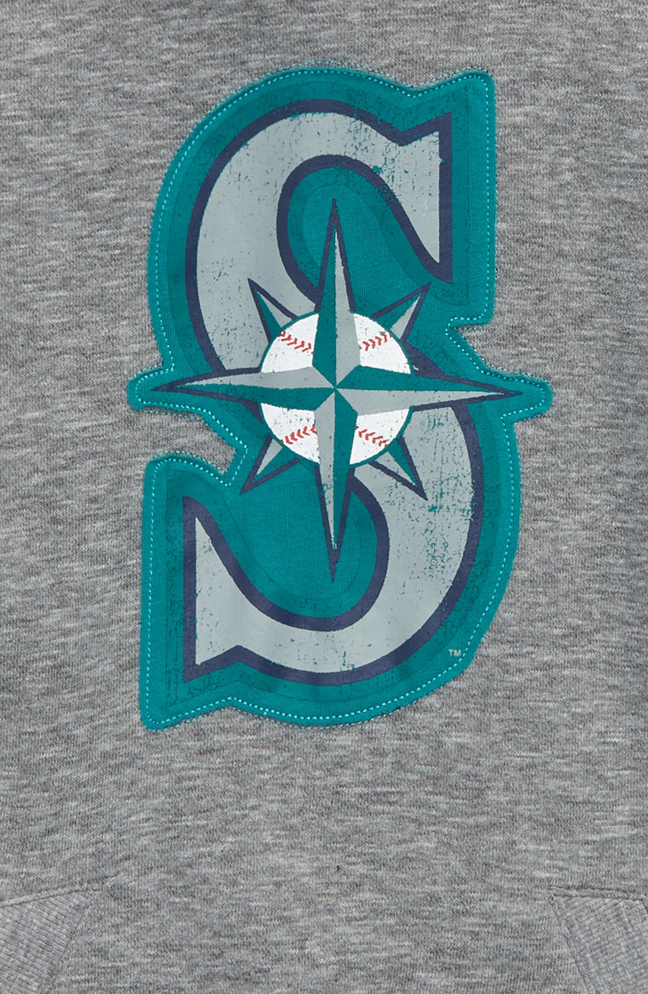 New Beginnings - Seattle Mariners Pullover Hoodie,                             Alternate thumbnail 2, color,                             Gray