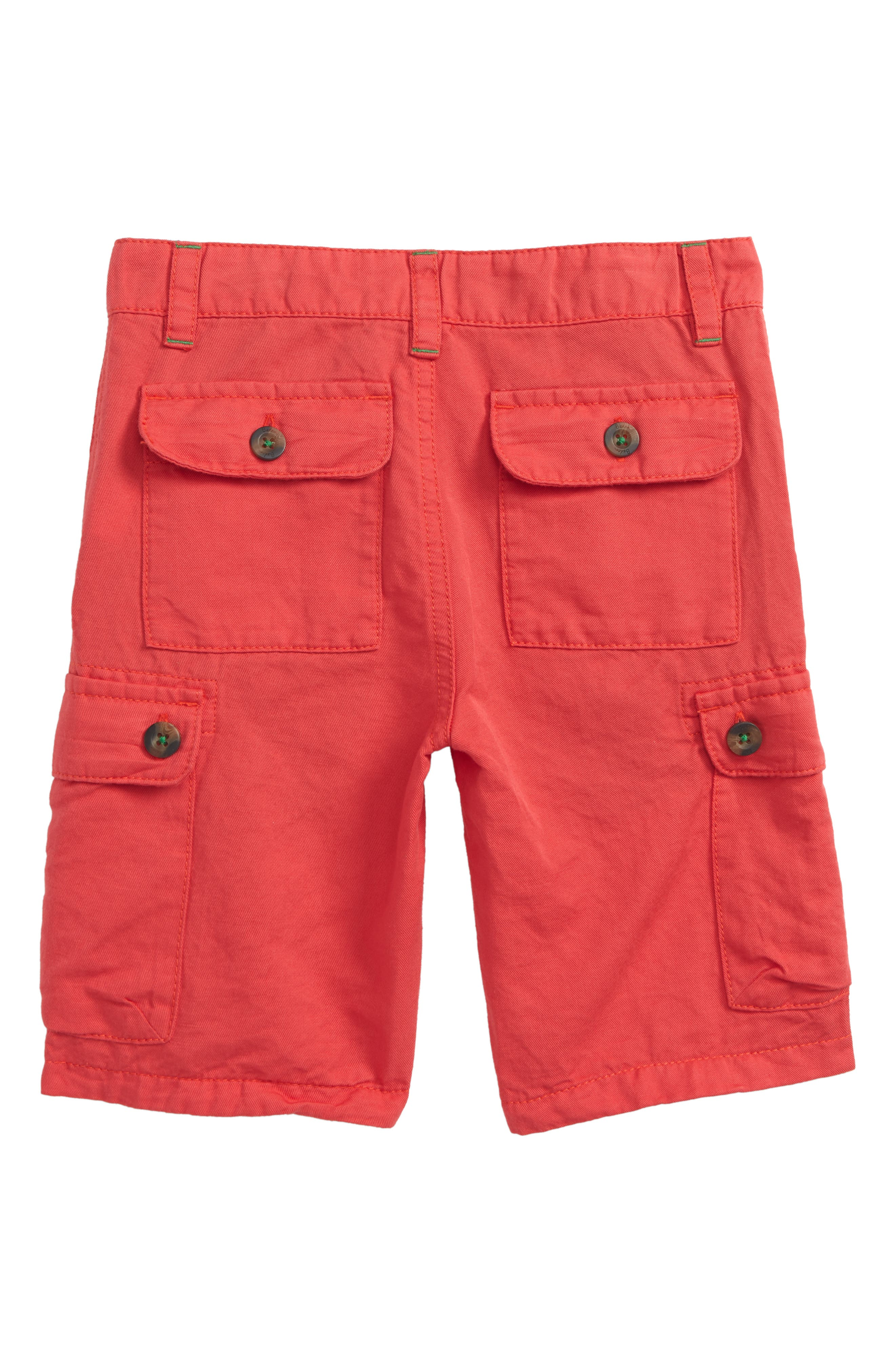 Summer Cargo Shorts,                             Alternate thumbnail 2, color,                             Jam Red