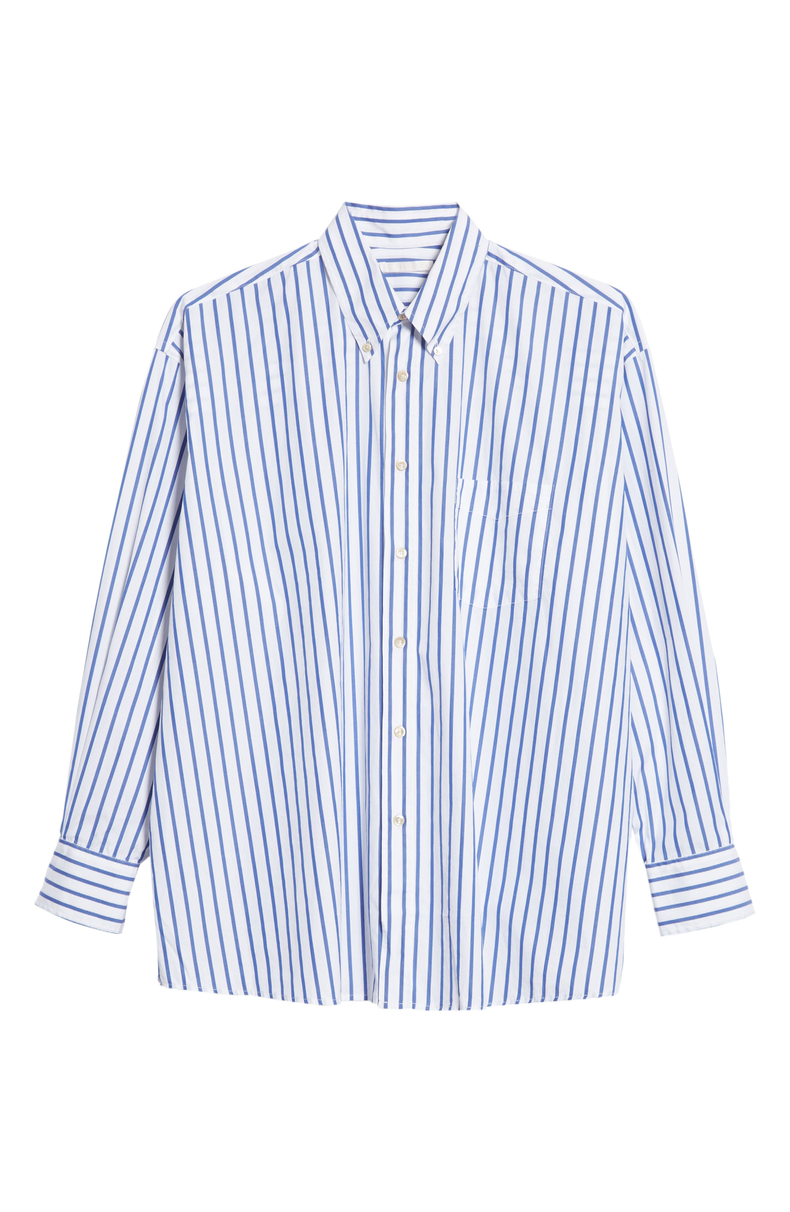 Alternate Image 6  - OUR LEGACY Oversize Stripe Woven Shirt