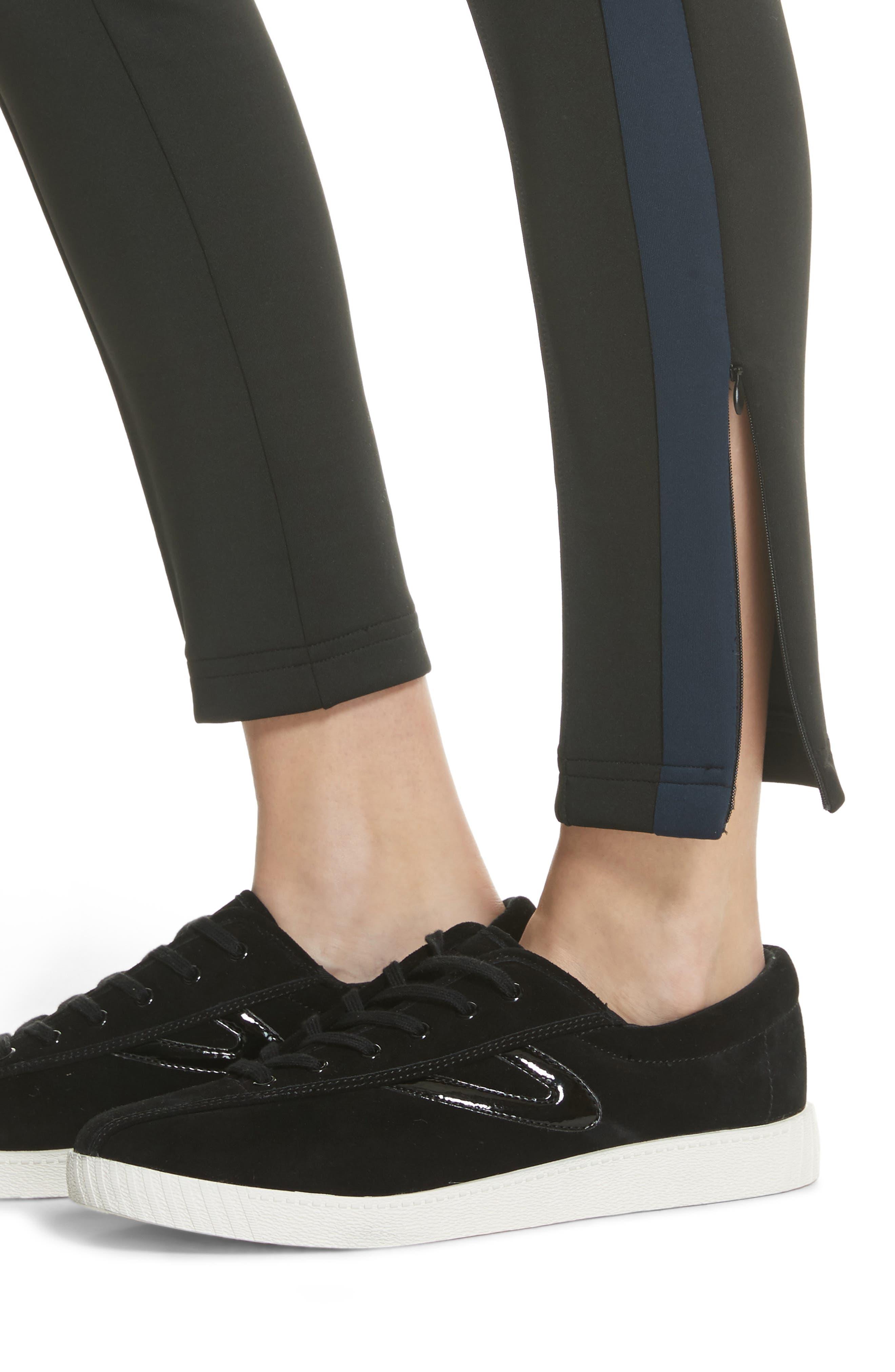 Tricot Track Pants,                             Alternate thumbnail 4, color,                             Black