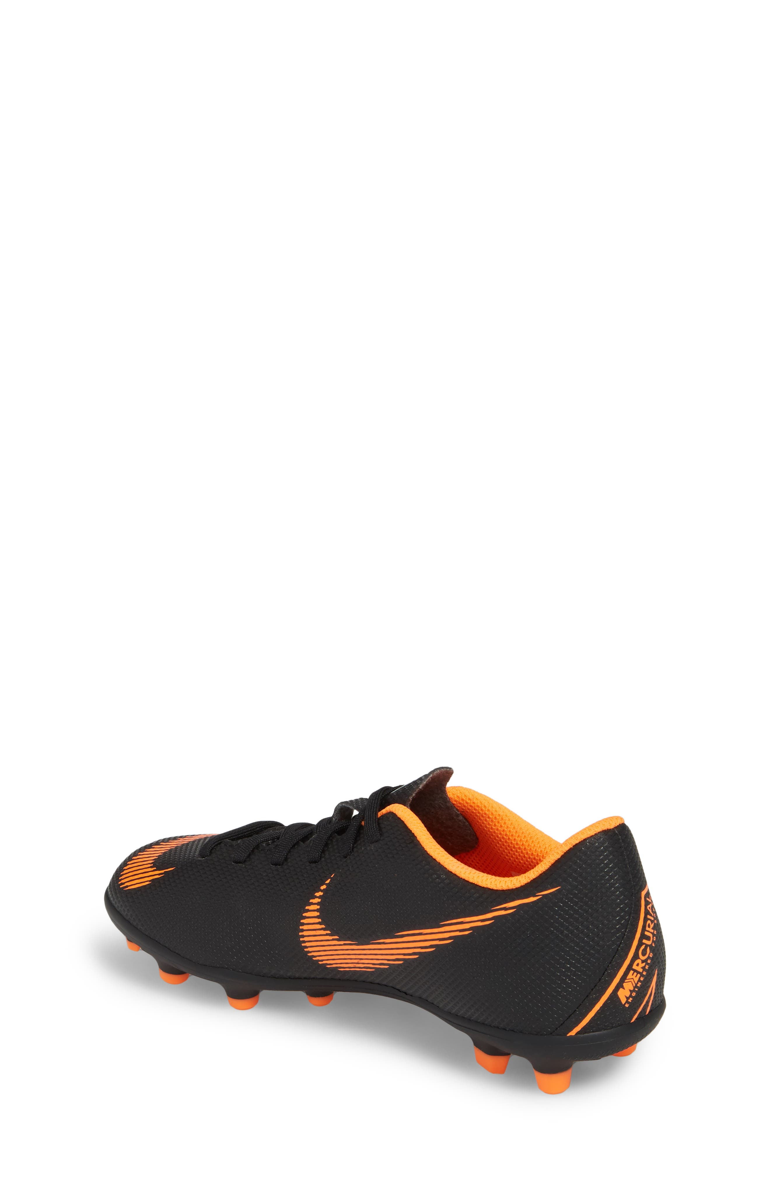 Vapor XII Club Multi Ground Soccer Shoe,                             Alternate thumbnail 2, color,                             Black/ Total Orange/ White