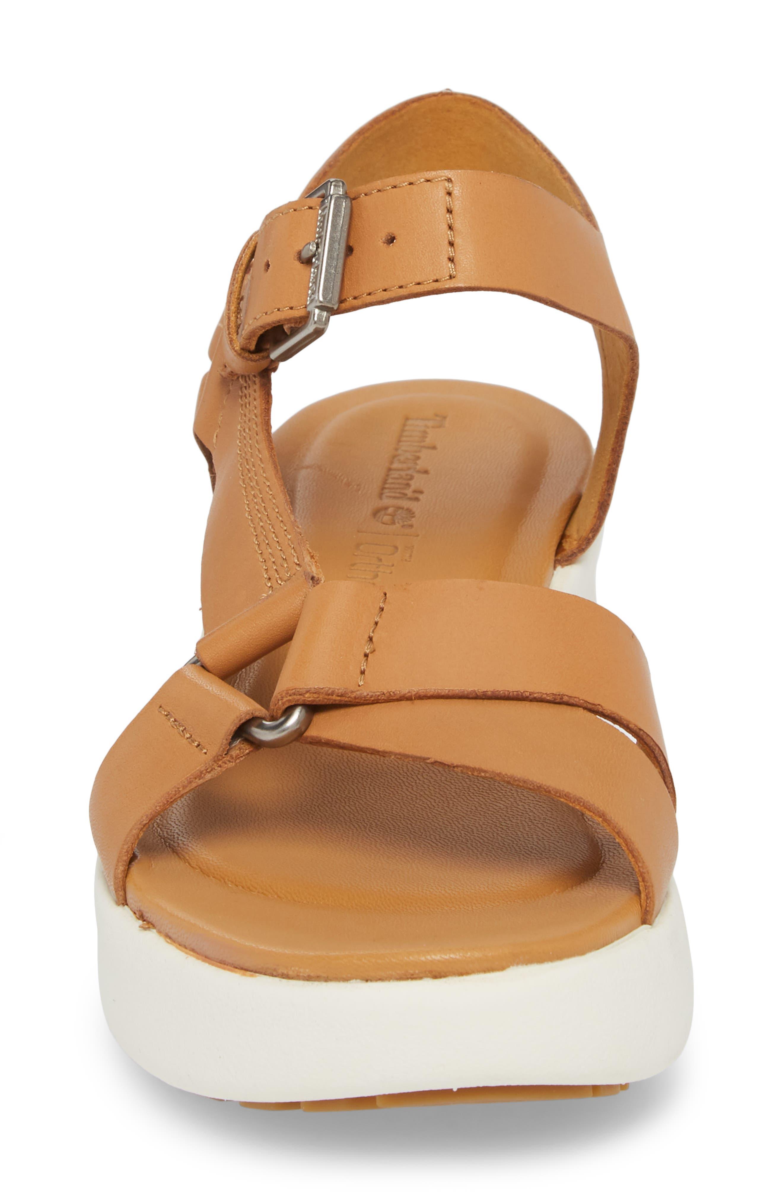 Los Angeles Wind Sport Sandal,                             Alternate thumbnail 4, color,                             Medium Brown Leather