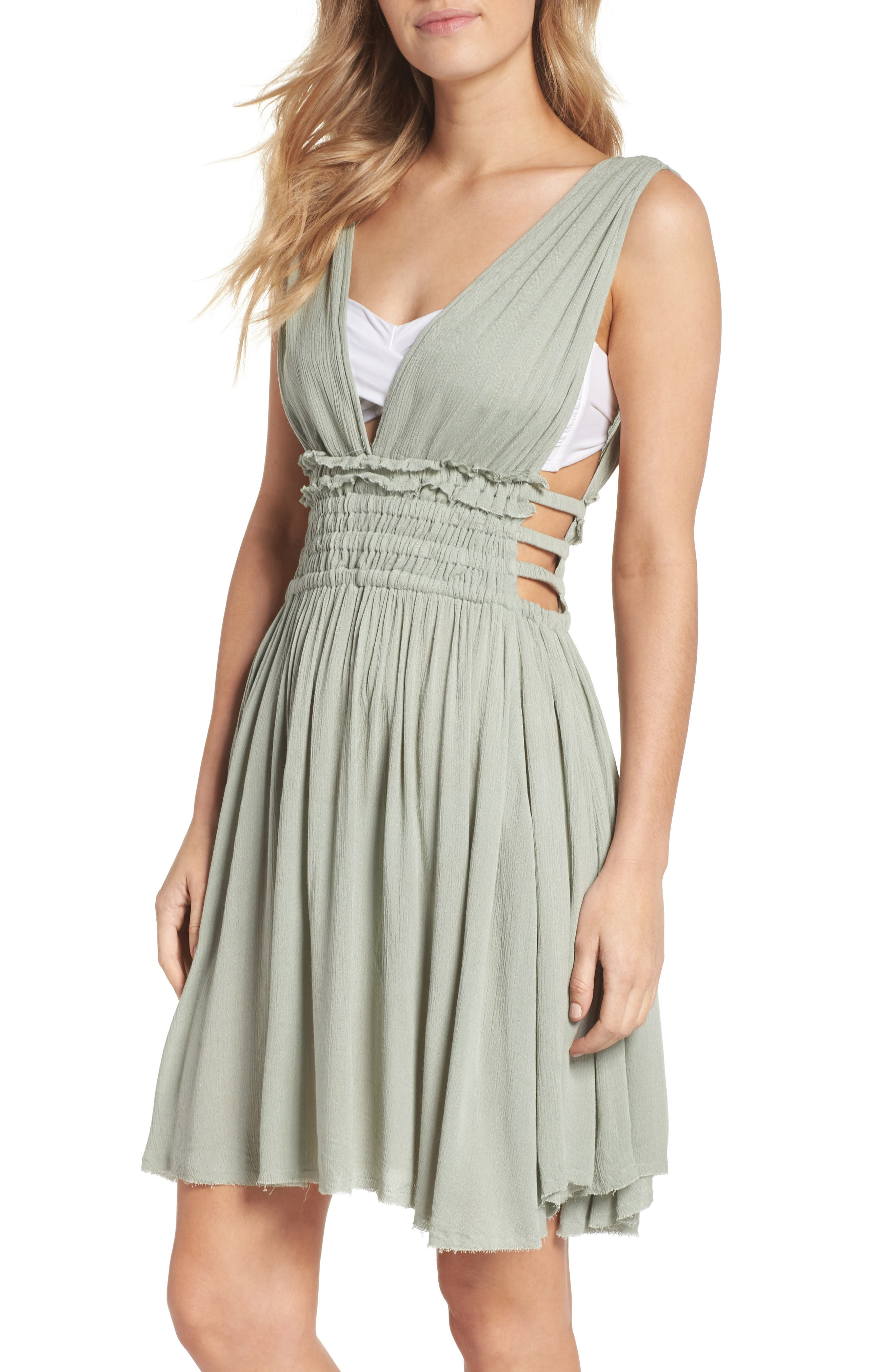 Goddess Cover-Up Dress,                         Main,                         color, Seafoam