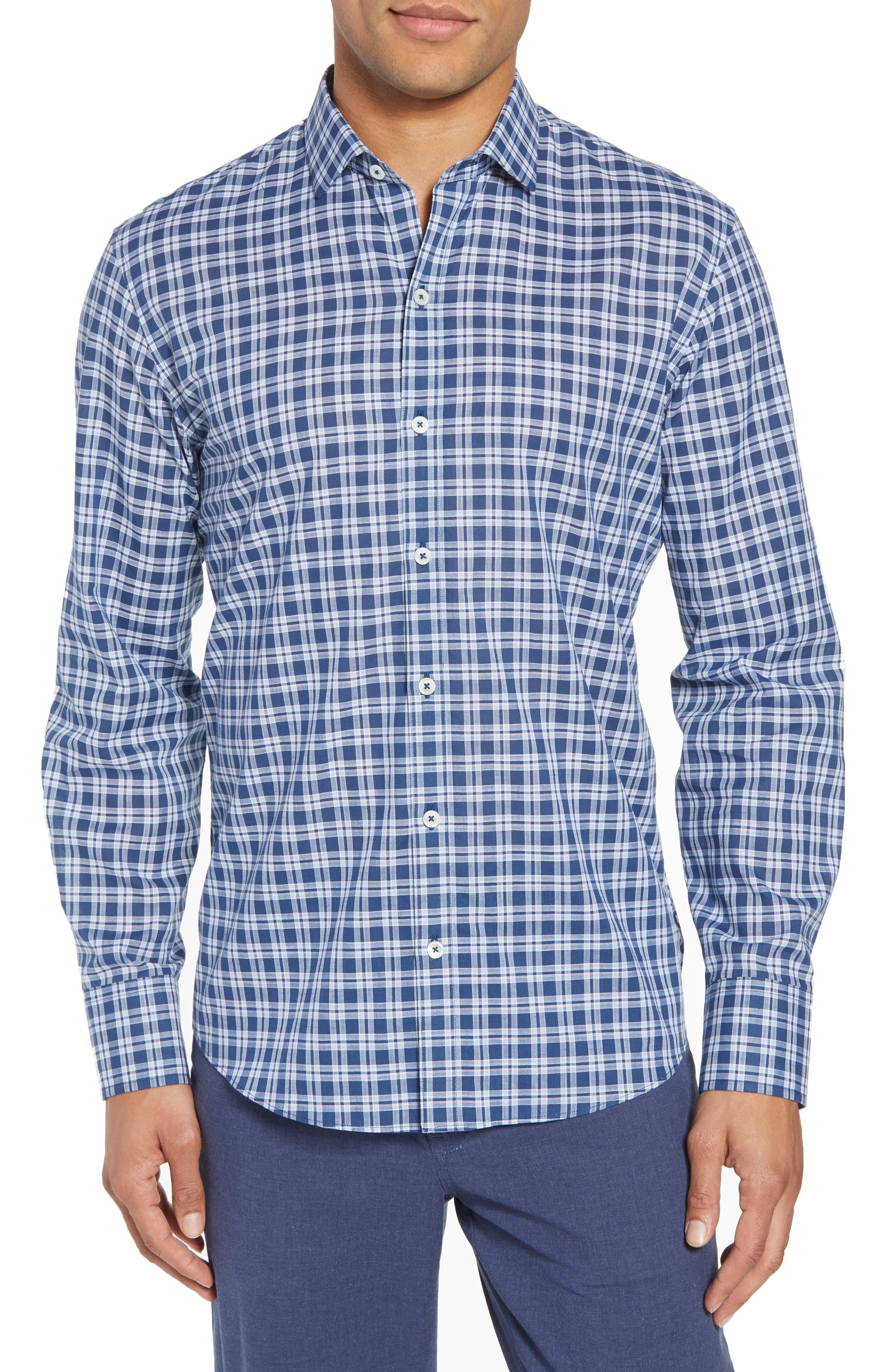 Speer Regular Fit Sport Shirt,                             Main thumbnail 1, color,                             Indigo