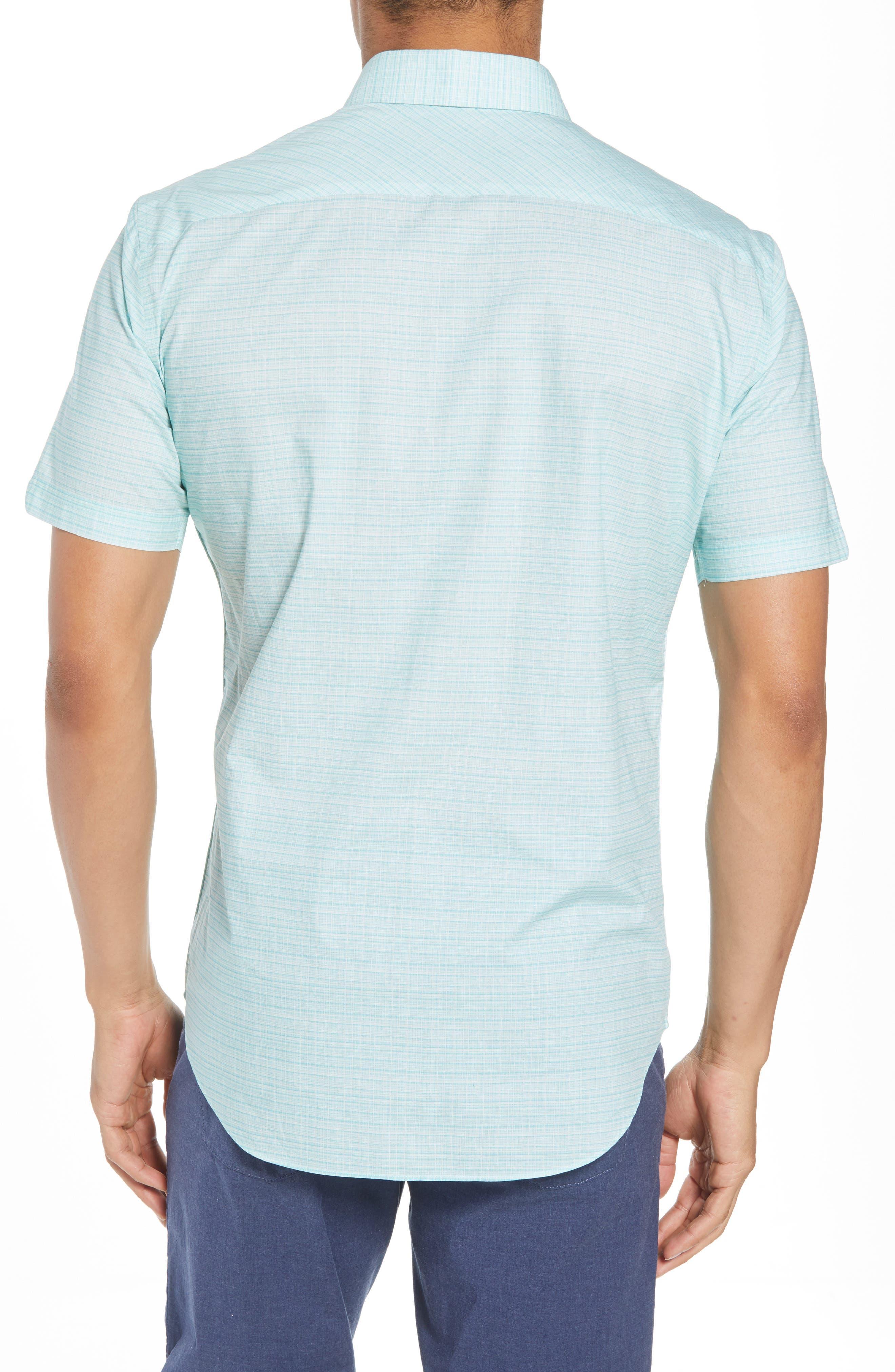 Nolan Grid Print Sport Shirt,                             Alternate thumbnail 2, color,                             Mint