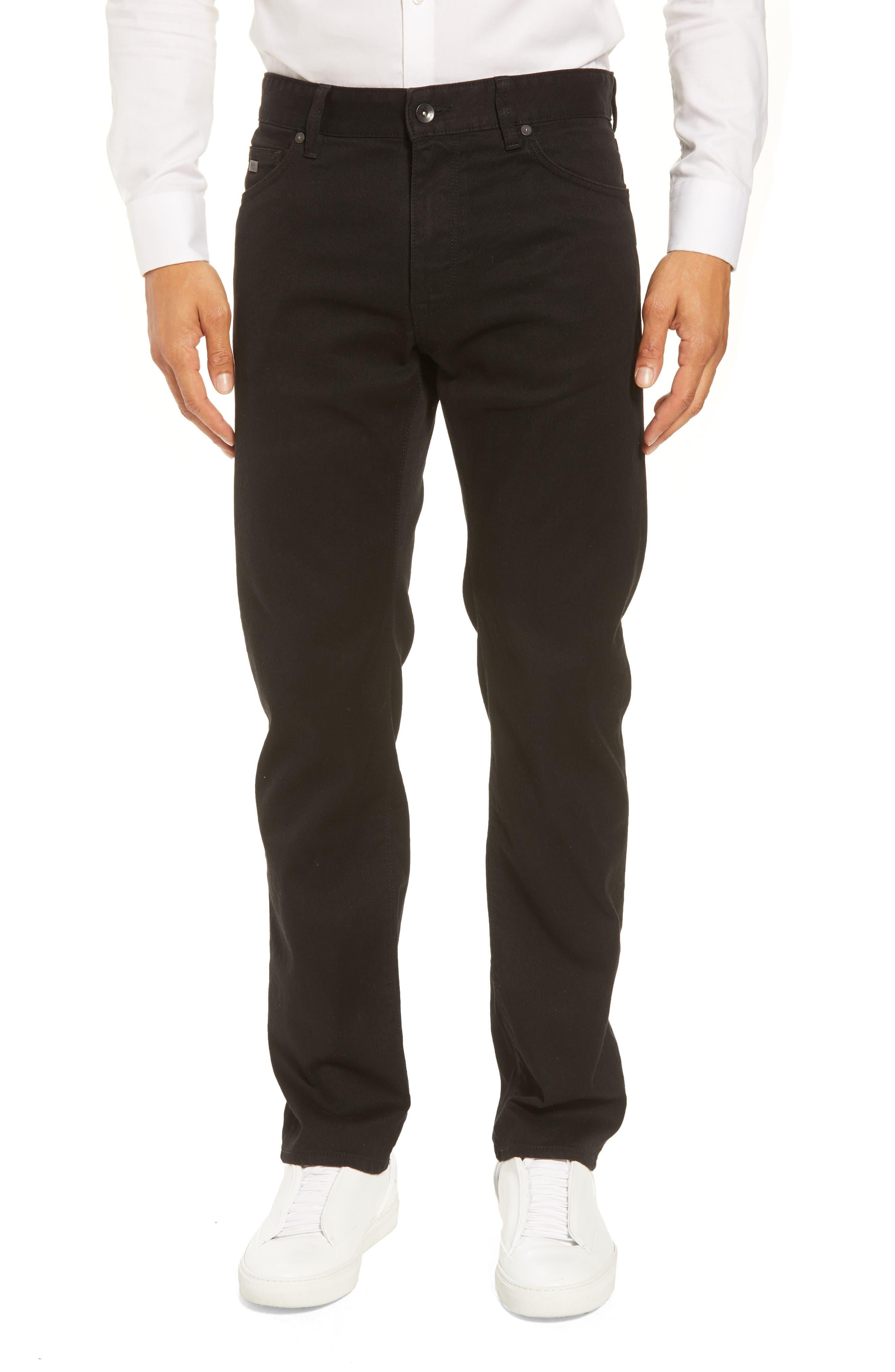 Maine Straight Leg Jeans,                             Main thumbnail 1, color,                             Black