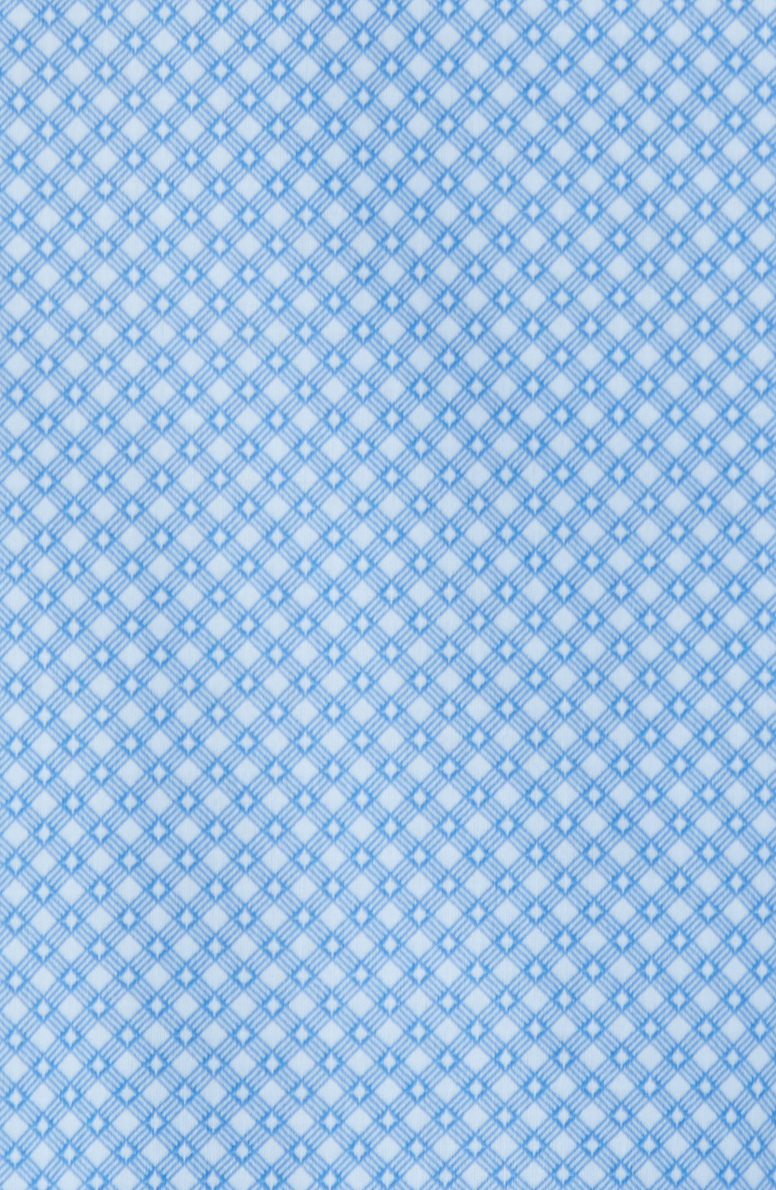 Ethan Slim Fit Sport Shirt,                             Alternate thumbnail 5, color,                             Blue
