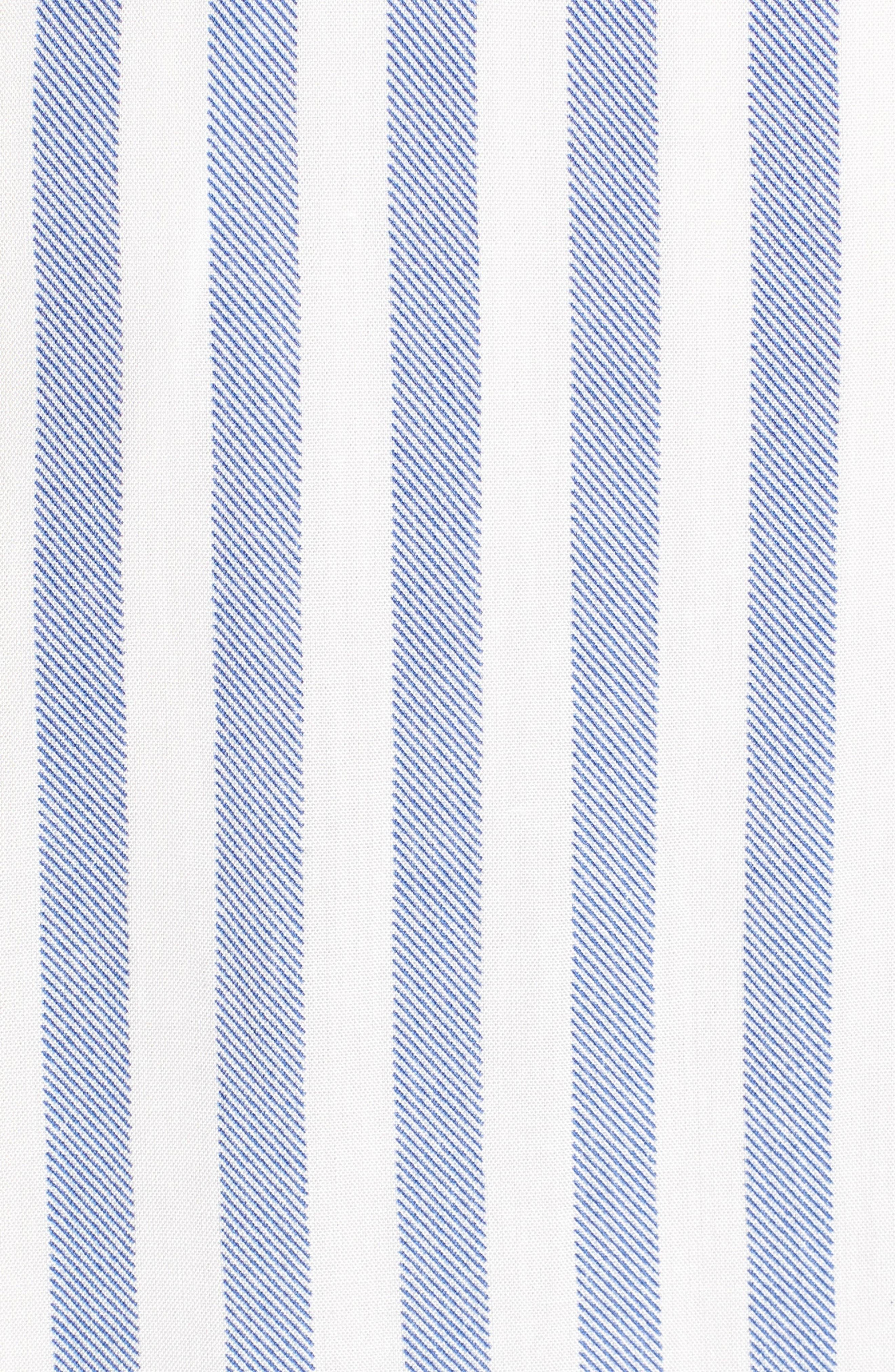 Bishop + Young Ana Stripe Shark Bite Hem Halter Dress,                             Alternate thumbnail 6, color,                             Blue White Stripe
