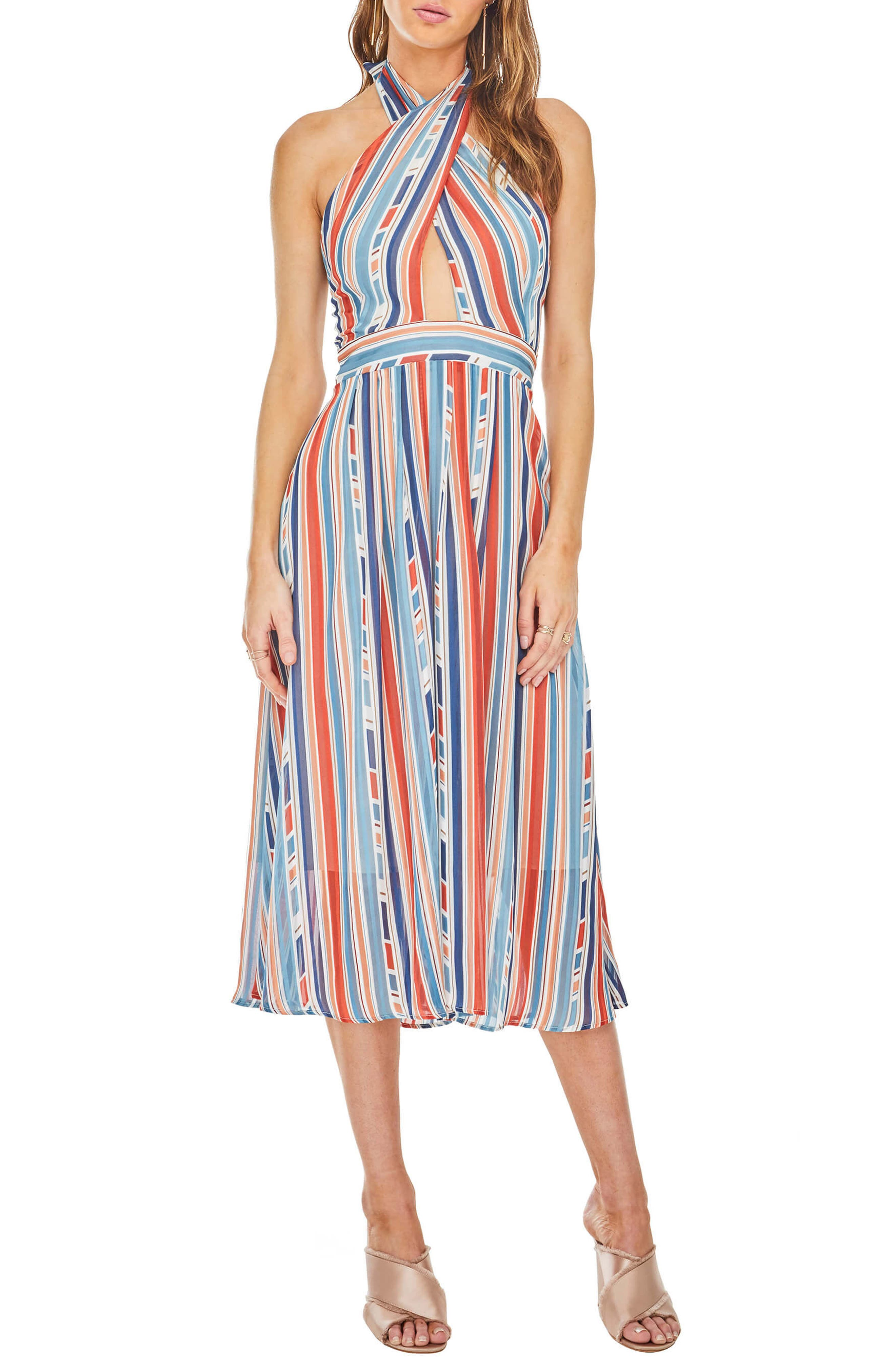 ASTR the Label Gemma Halter Midi Dress