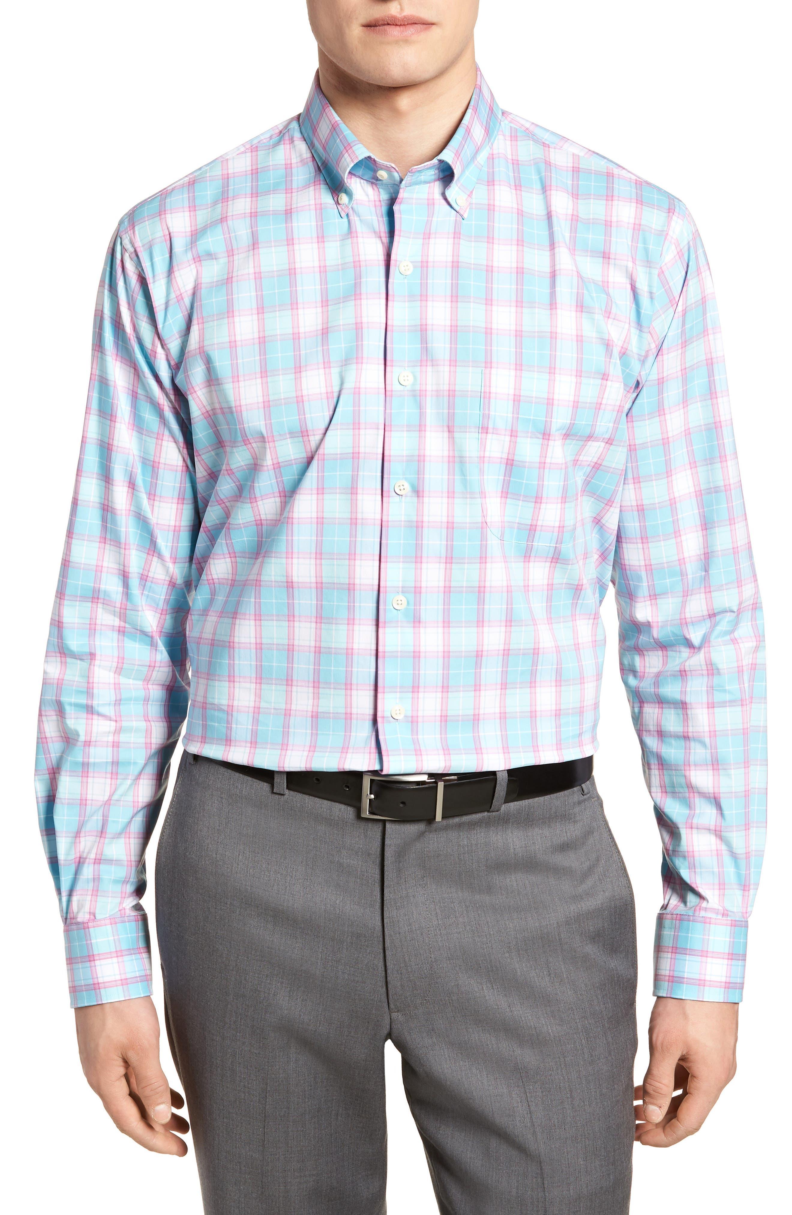 Peter Millar Crown Comfort Pacific Plaid Sport Shirt