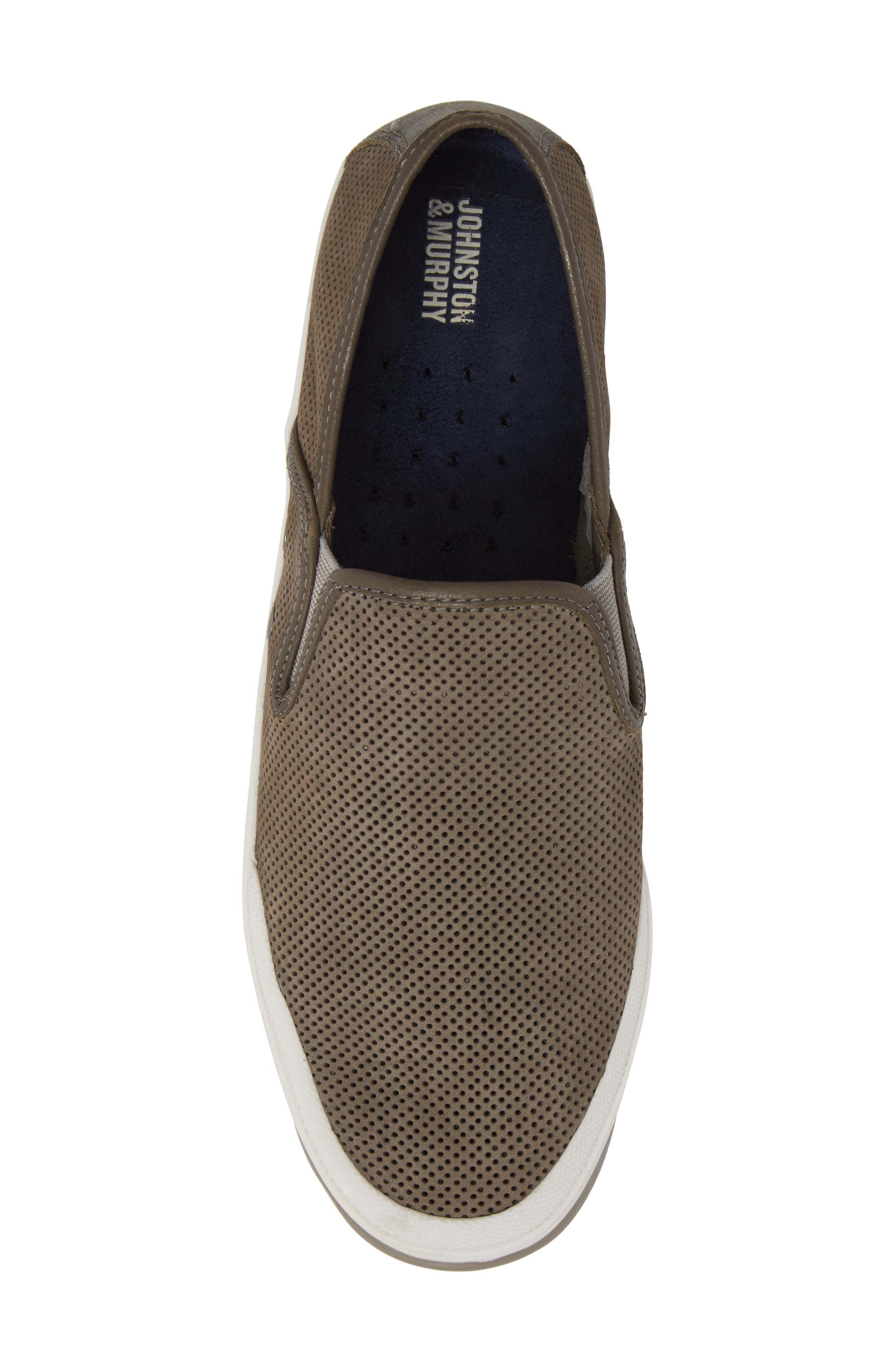 'Mullen' Slip-On,                             Alternate thumbnail 5, color,                             Grey Perfed Nubuck